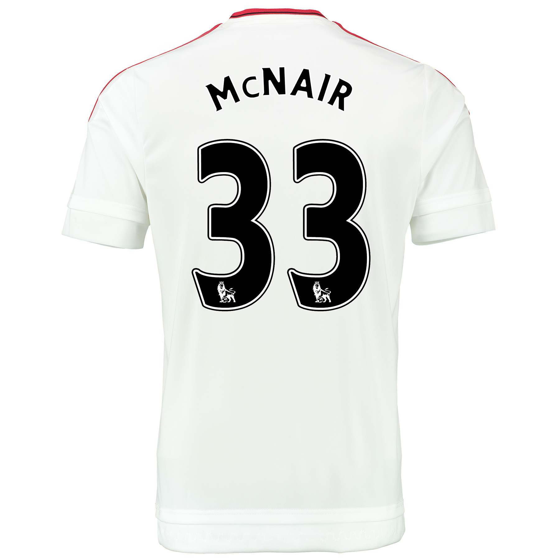 Manchester United Away Baby Kit 2015/16 White with McNair 33 printing