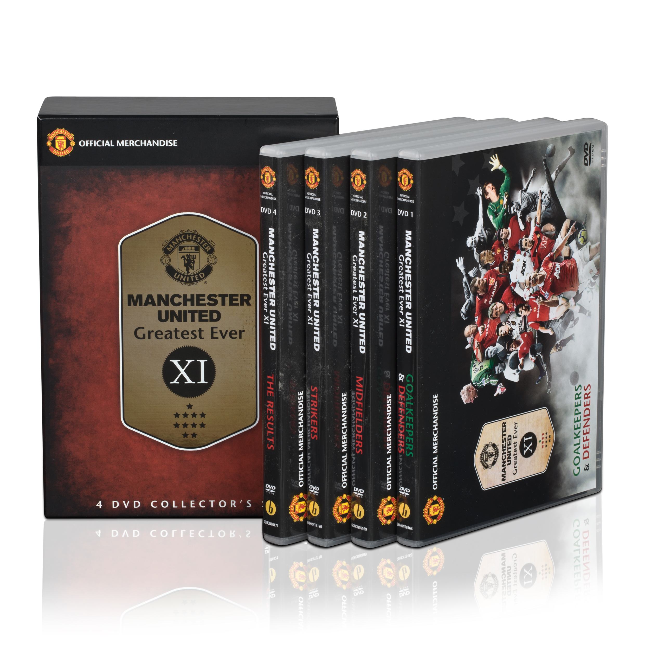 Manchester United The Greatest Ever XI - DVD - 4 Discs - NTSC