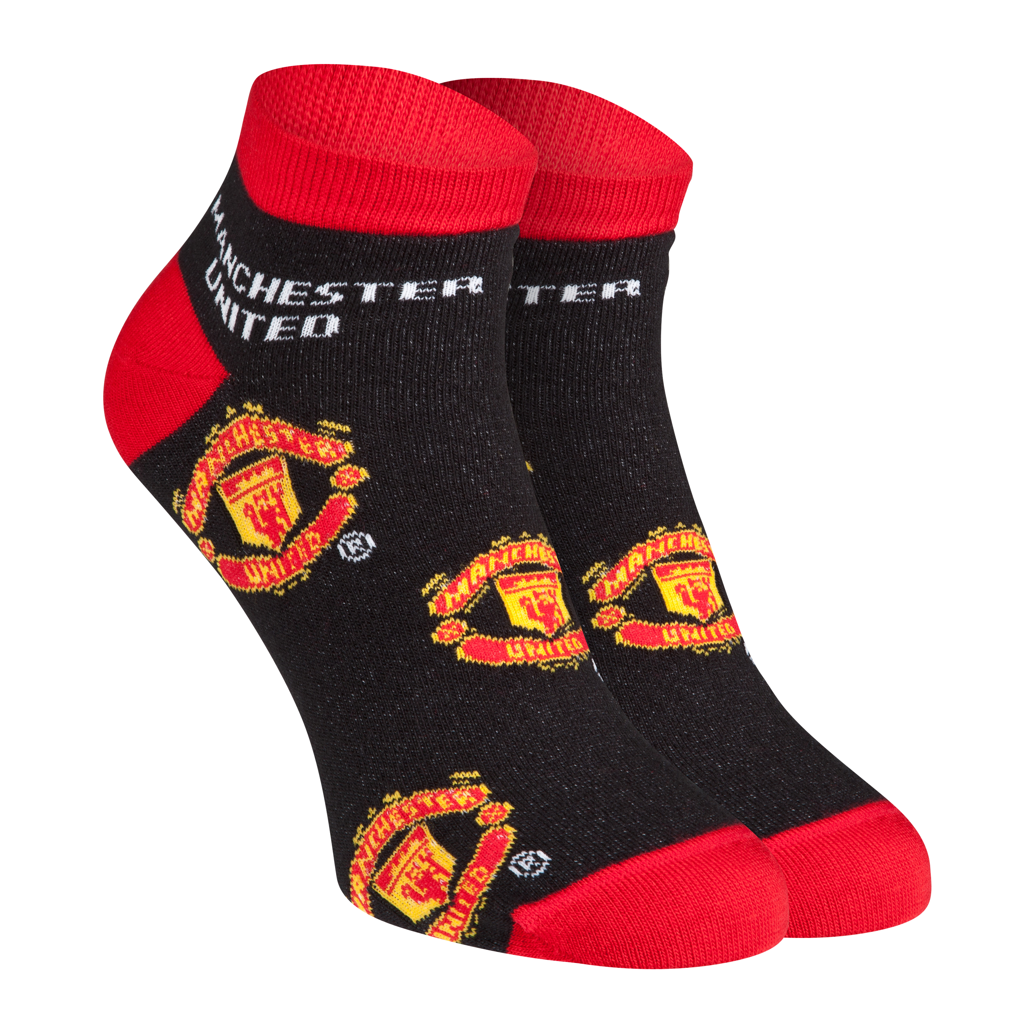 Manchester United Crest Trainer Socks - Black - Womens