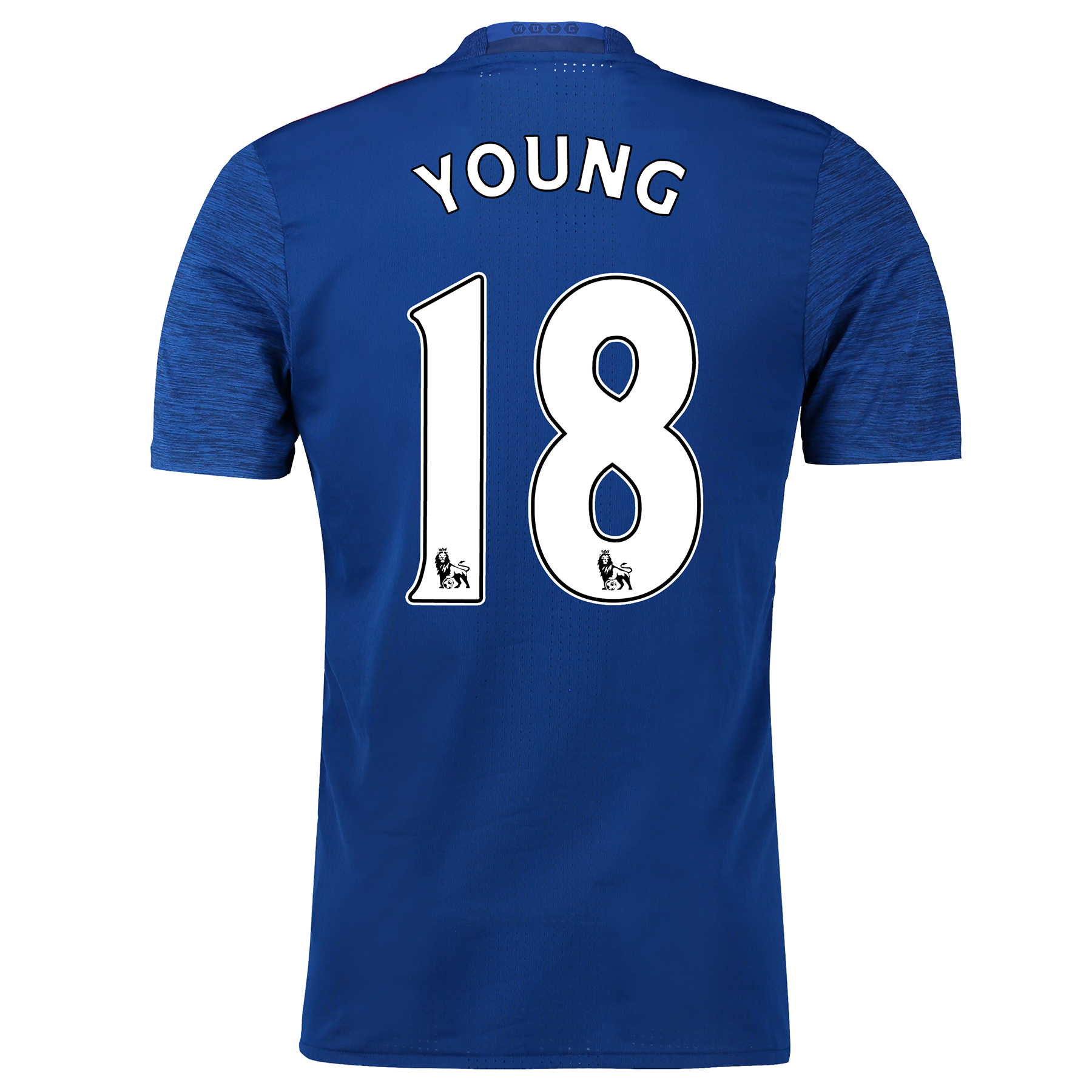 Image of Manchester United Away Adi Zero Shirt 2016-17 with Young 18 printing, Blue