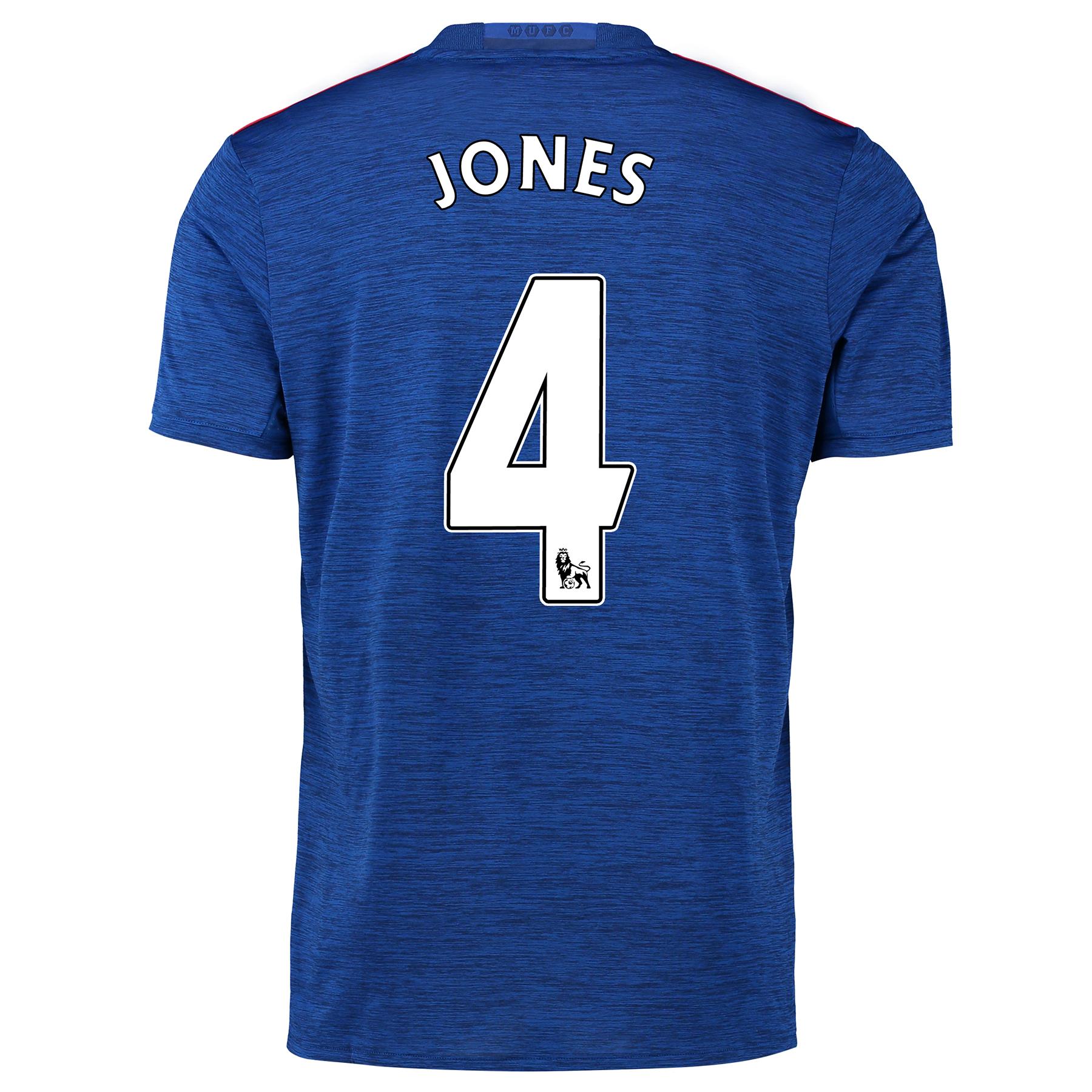 Manchester United Away Shirt 2016-17 with Jones 4 printing