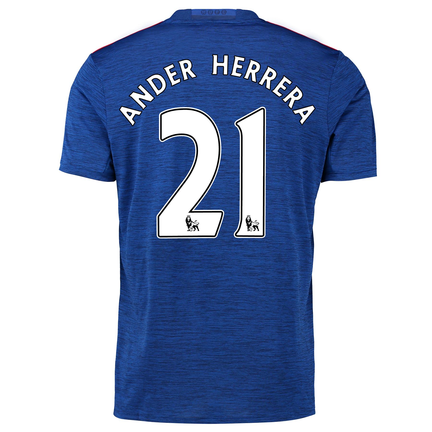 Manchester United Away Shirt 2016-17 with Herrera 21 printing