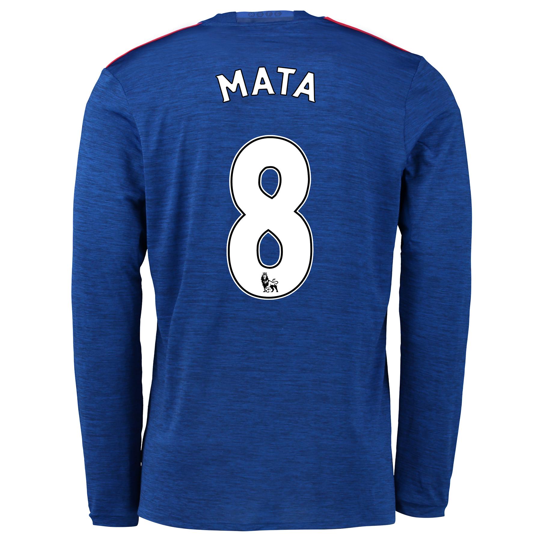 Manchester United Away Shirt 2016-17 - Long Sleeve with Mata 8 printin