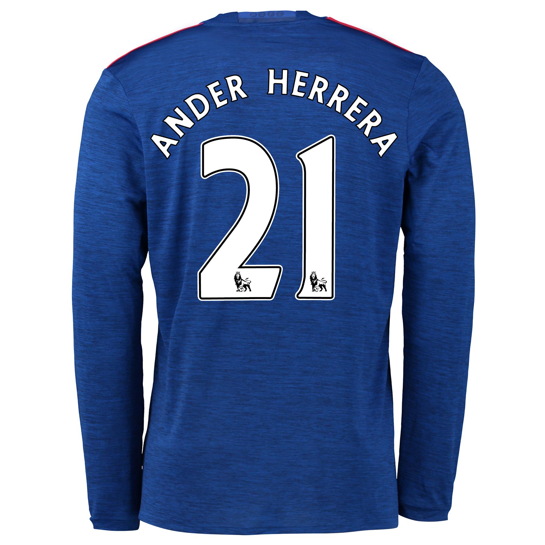 Manchester United Away Shirt 2016-17 - Long Sleeve with Herrera 21 pri