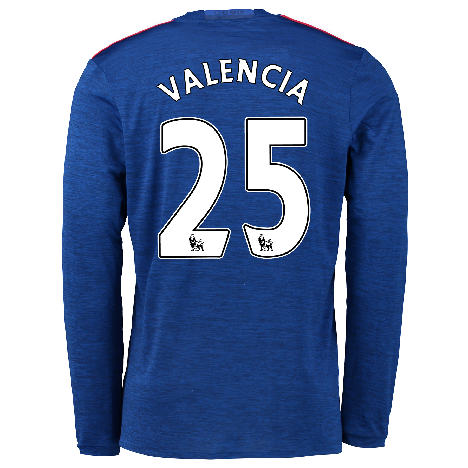 Manchester United Away Shirt 2016-17 - Long Sleeve with Valencia 25 pr