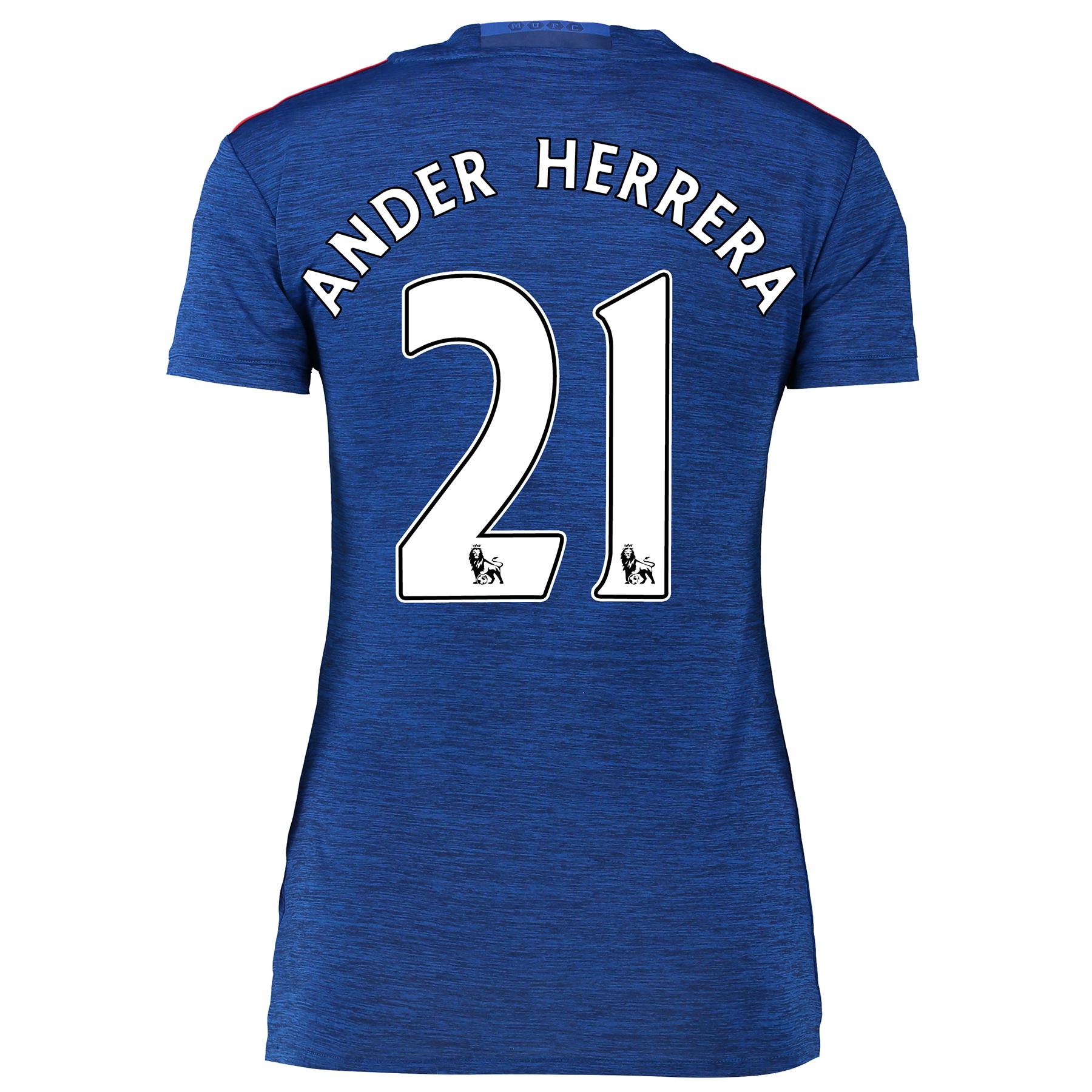 Manchester United Away Shirt 2016-17 - Womens with Herrera 21 printing
