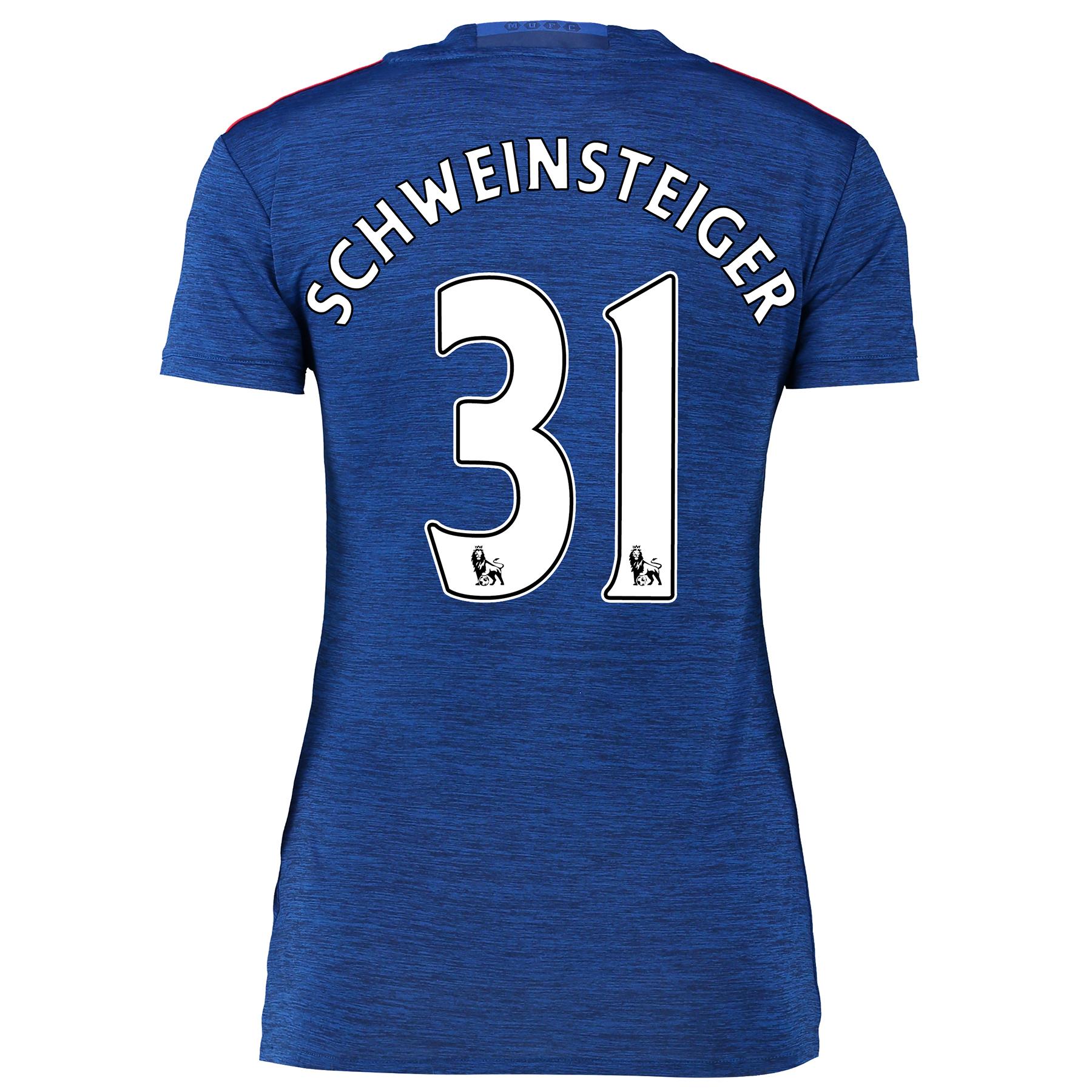 Manchester United Away Shirt 2016-17 - Womens with Schweinsteiger 31 p