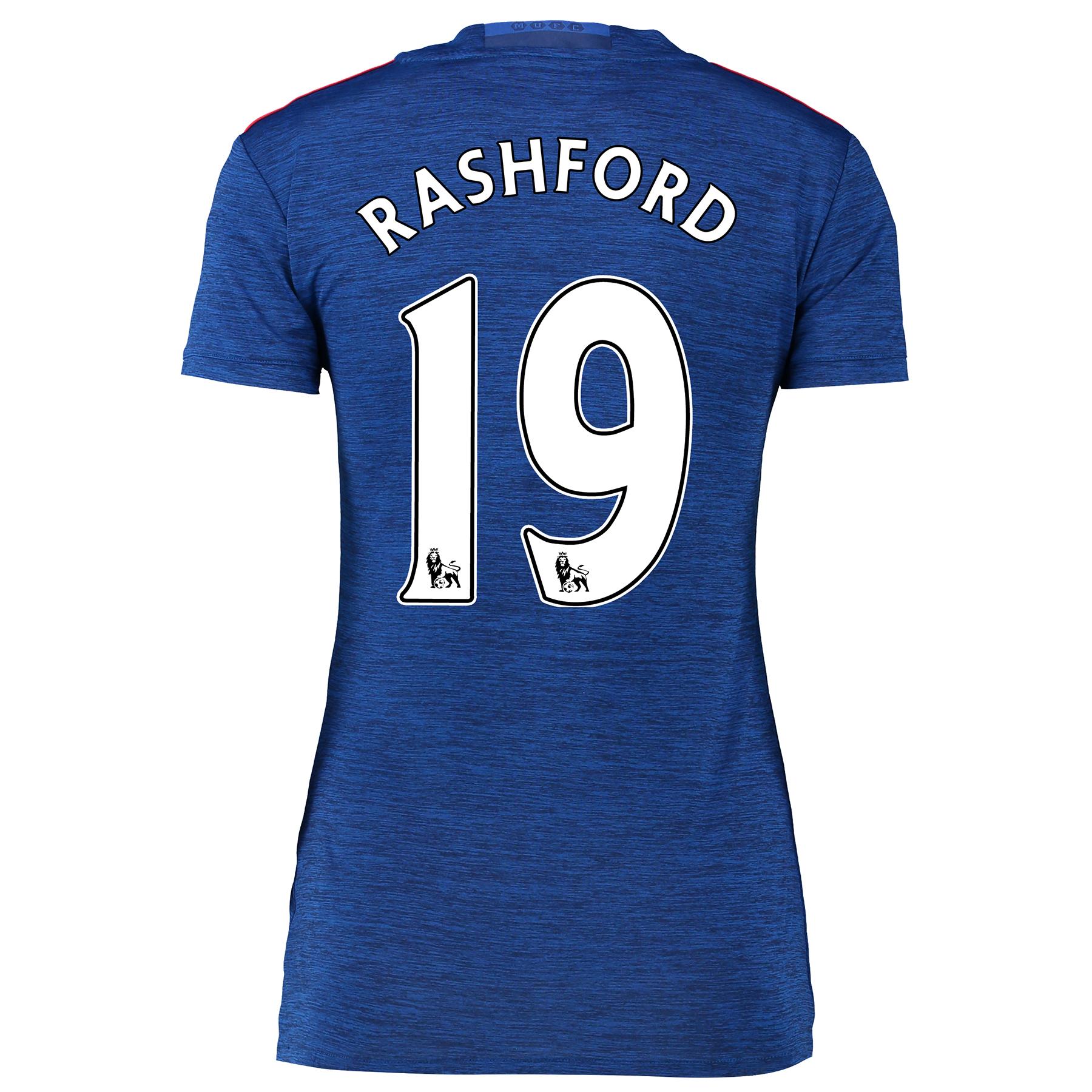 Manchester United Away Shirt 2016-17 - Womens with Rashford 19 printin