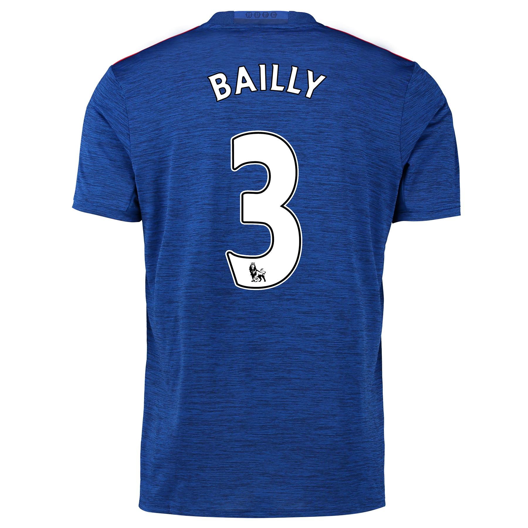 Manchester United Away Shirt 2016-17 with Bailly 3 printing, Blue