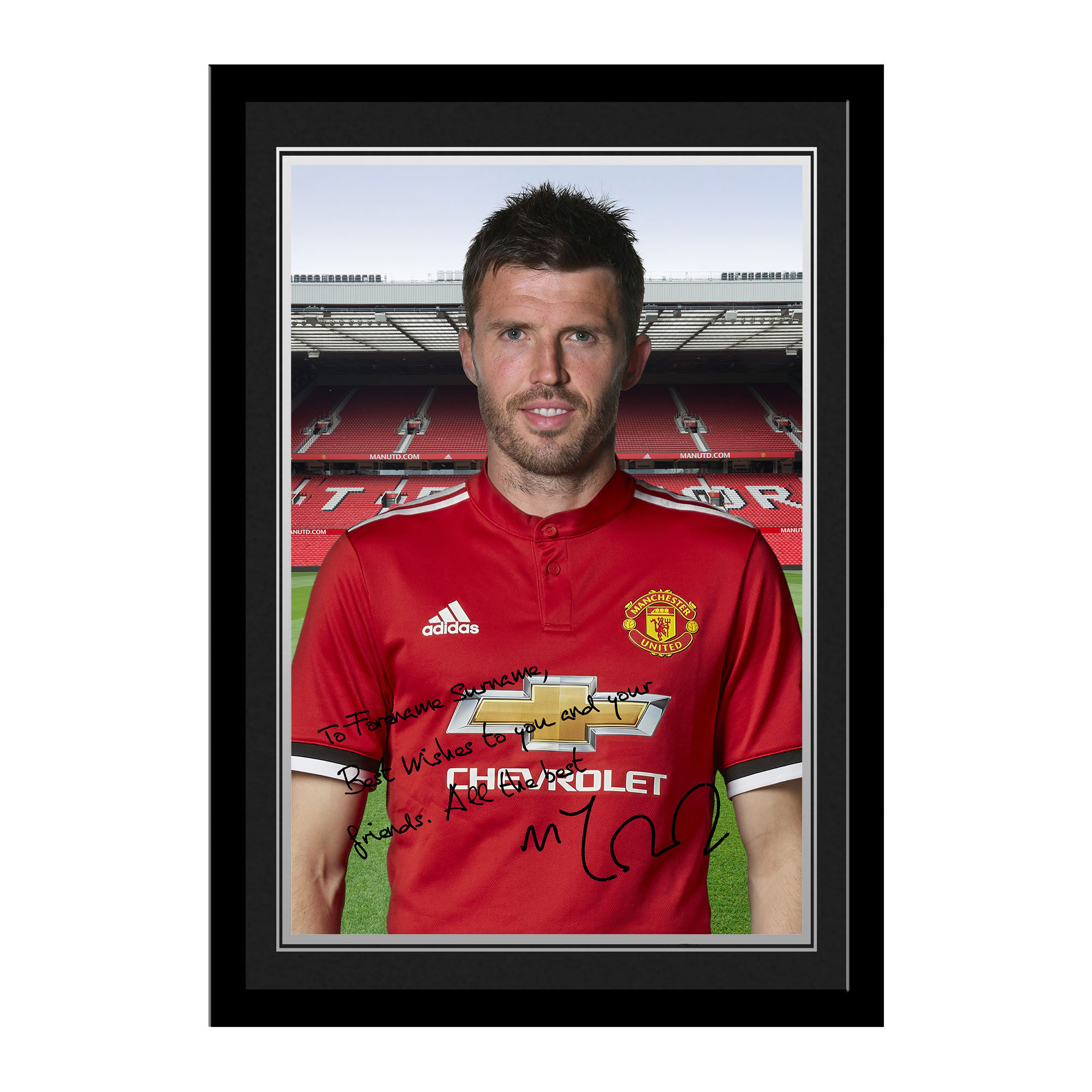 Manchester United Personalised Signature Photo Framed - Carrick