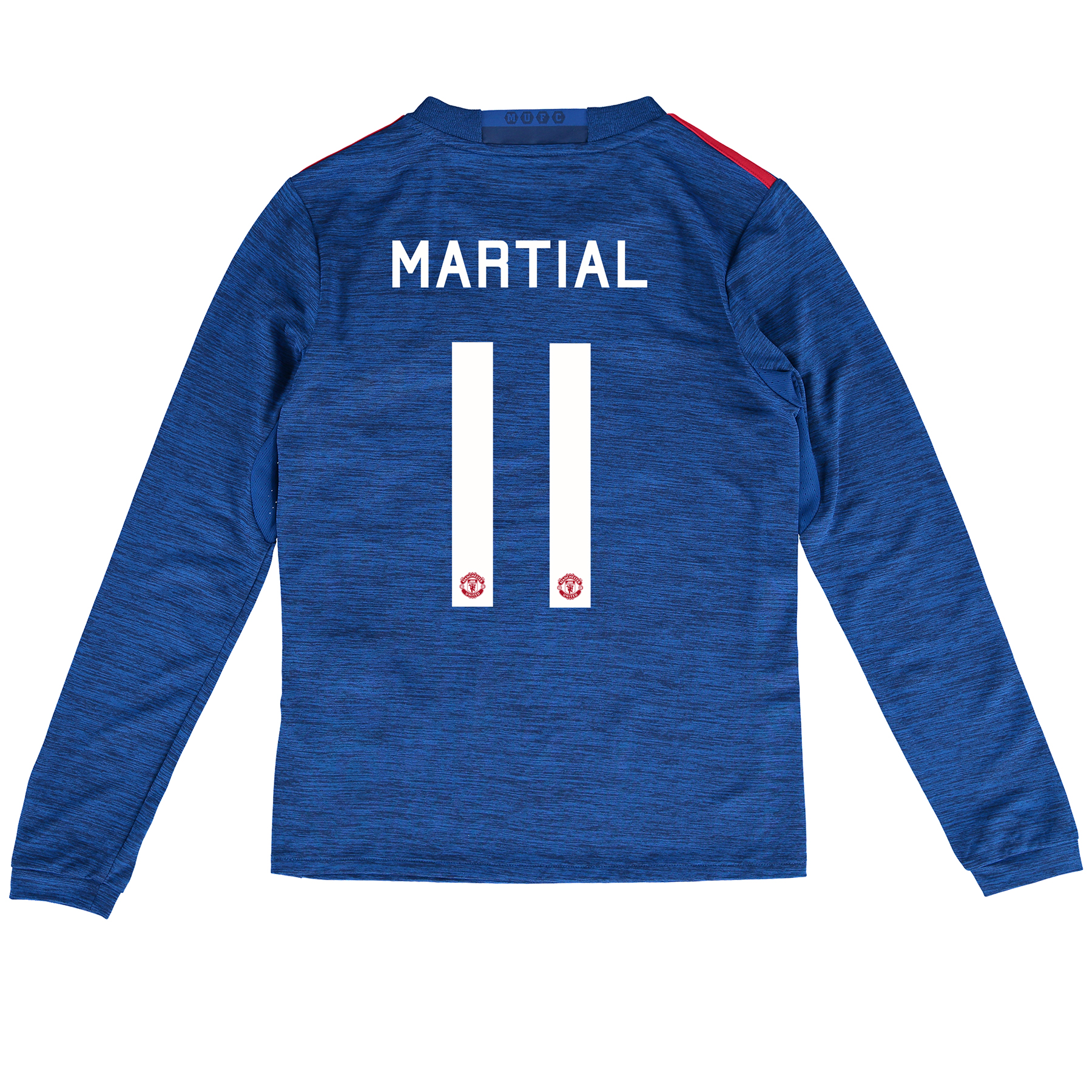 Manchester United Cup Away Shirt 2016-17 - Kids - Long Sleeve with Mar