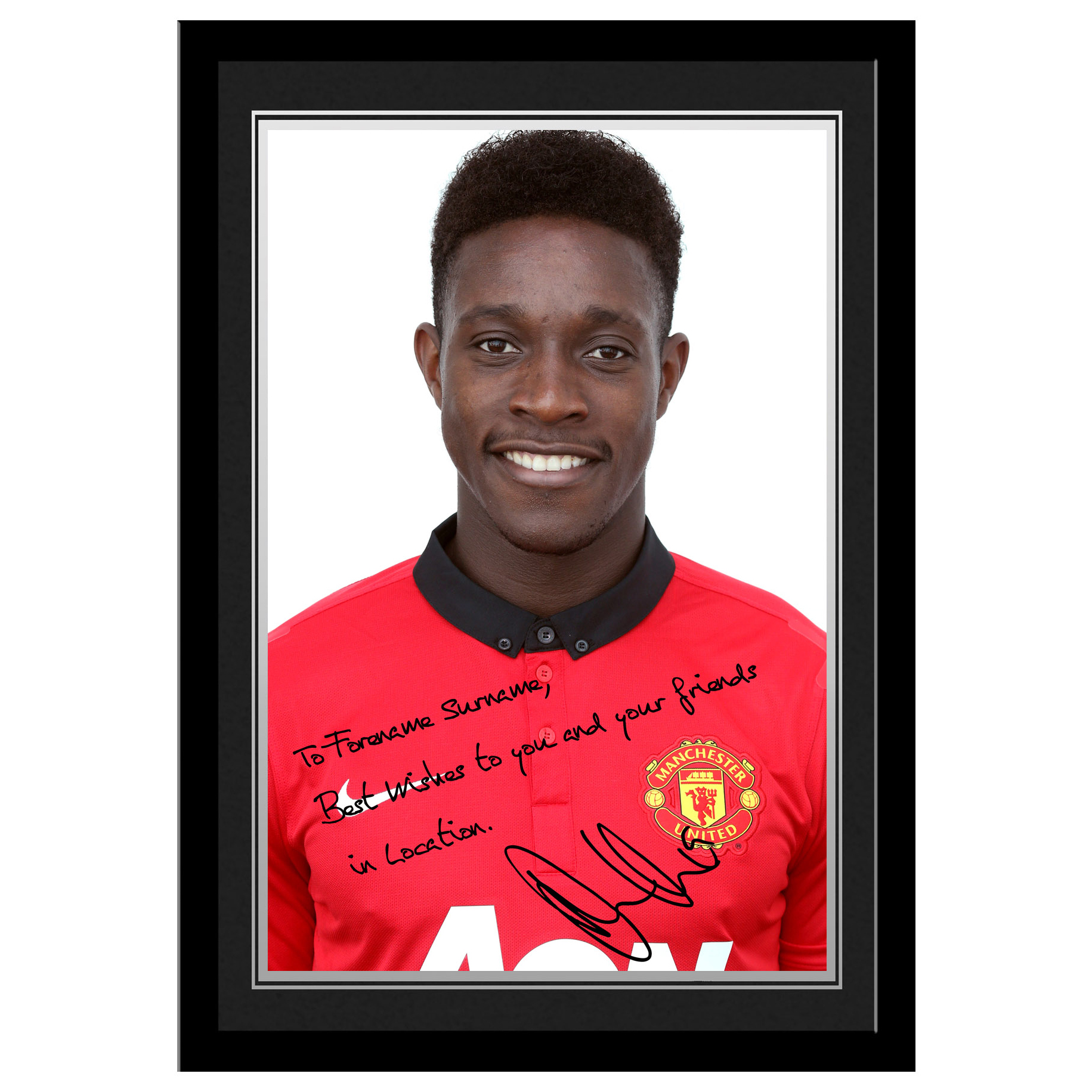Manchester United Personalised Signature Photo Framed - Welbeck