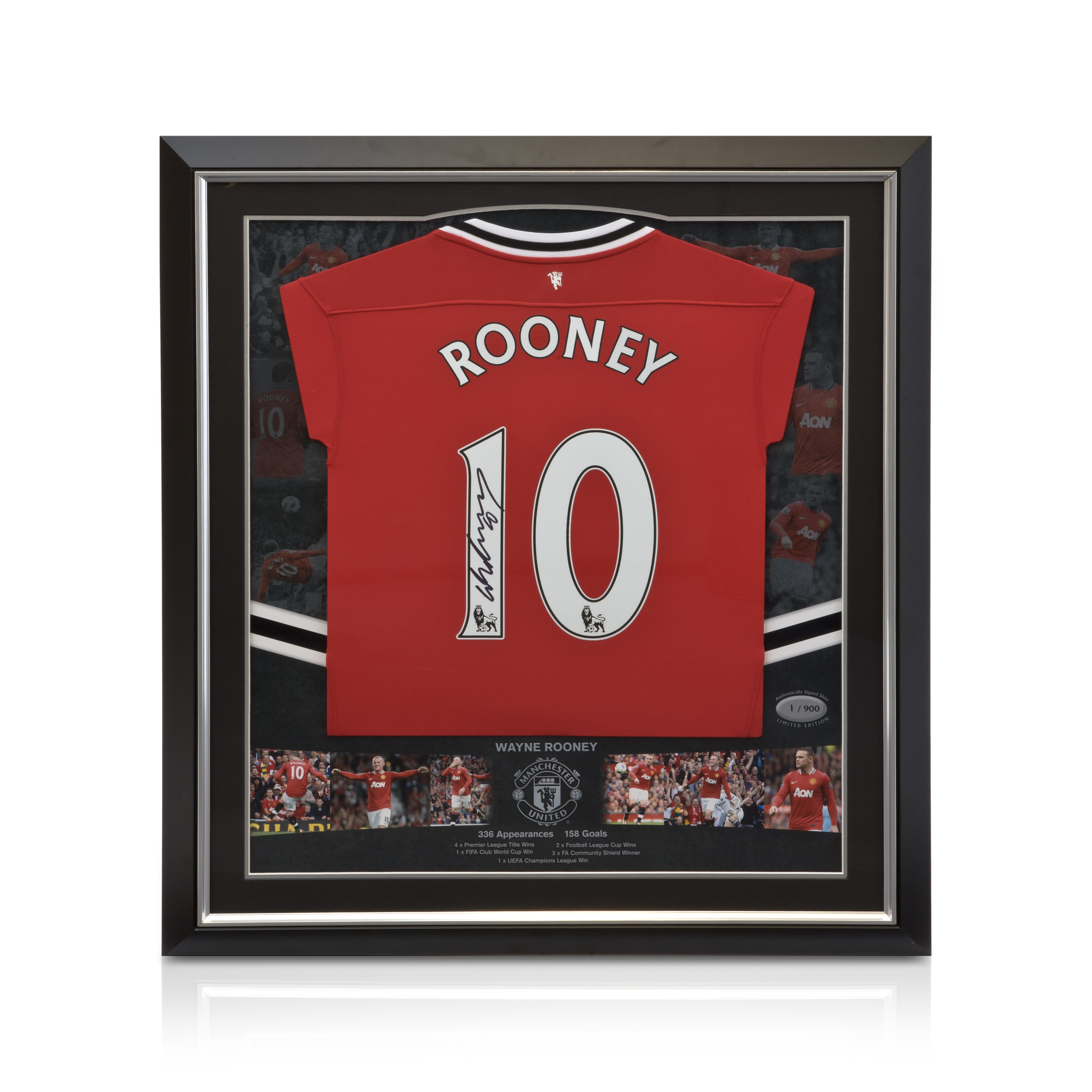 Manchester United Limited Edition Hand Signed Wayne Rooney Shirt - Framed