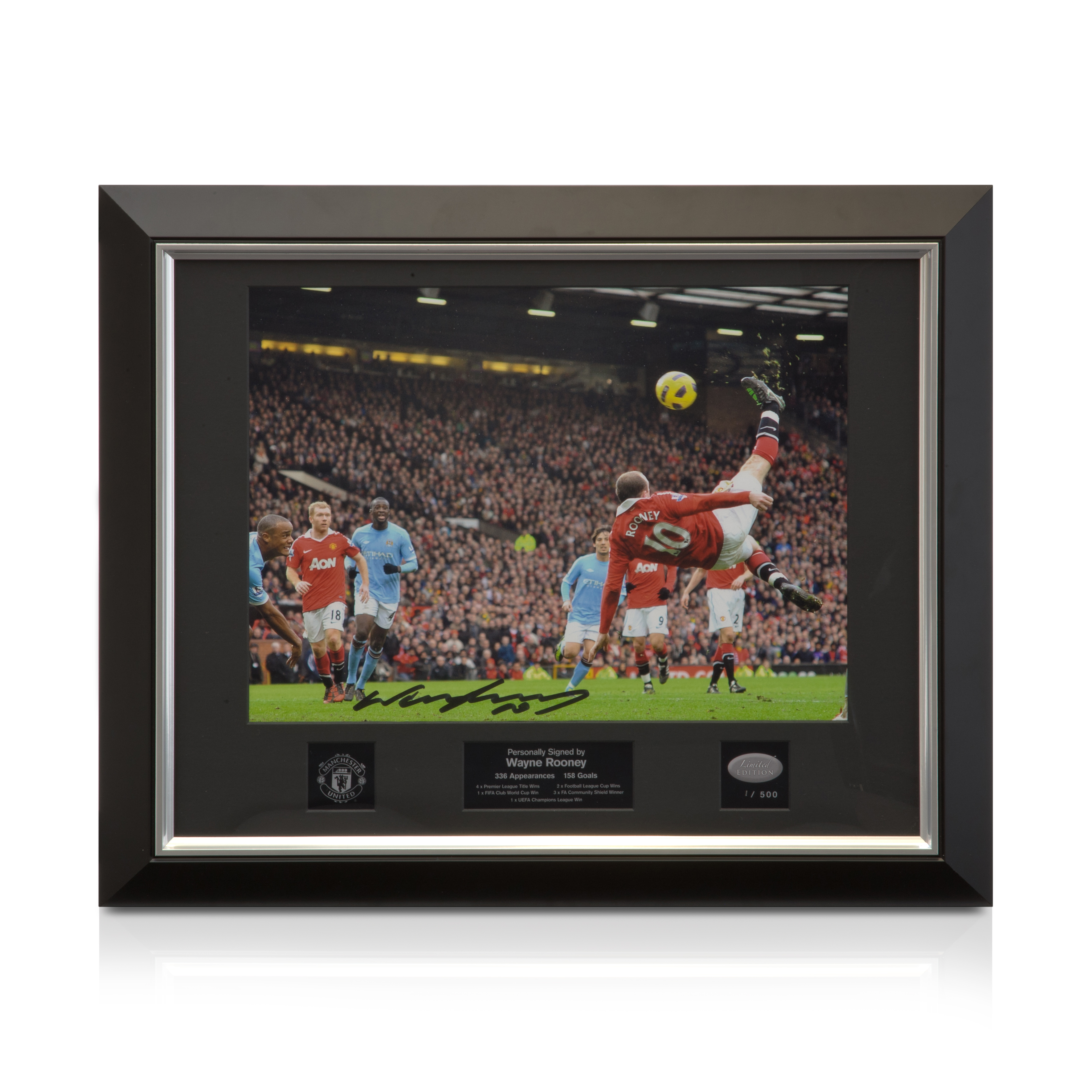 Manchester United Limited Edition Hand Signed Wayne Rooney Photo - Framed