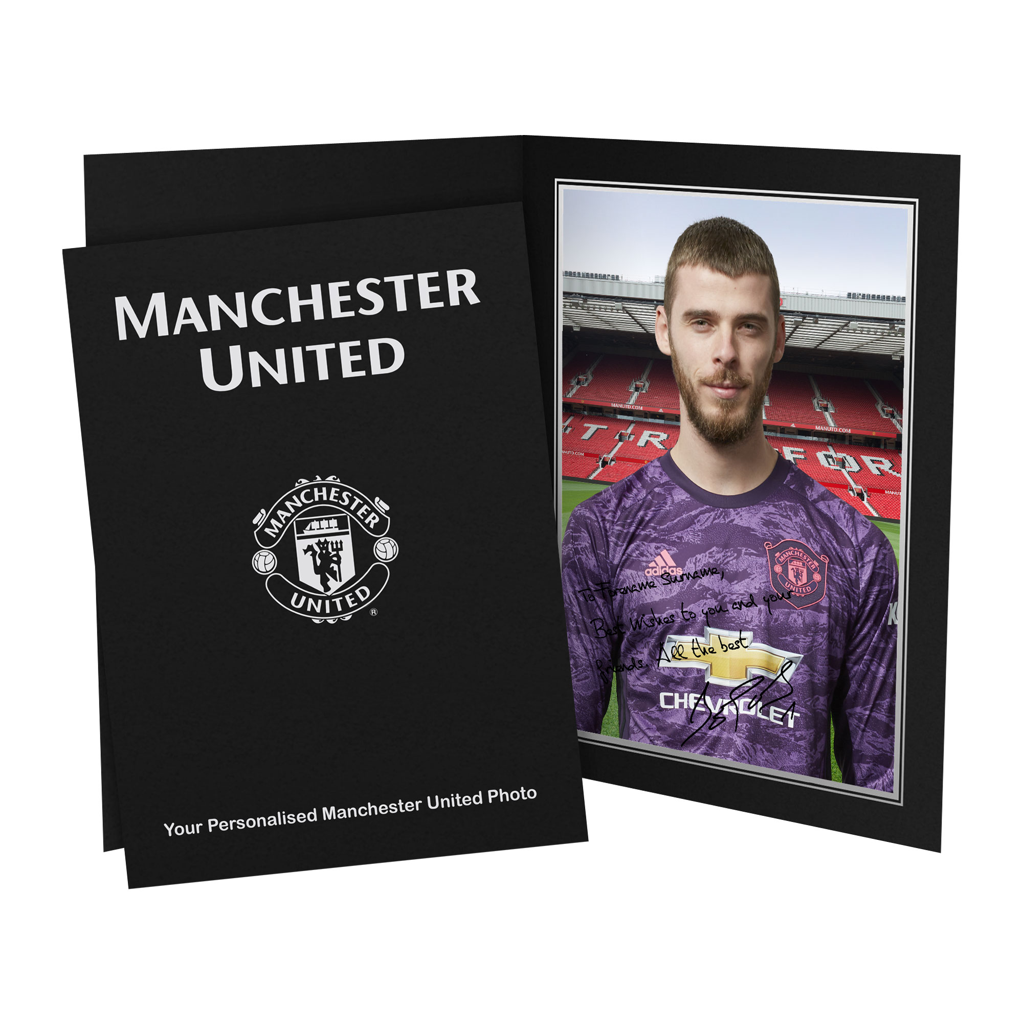 Manchester United Personalised Signature Photo In Presentation Folder - David De Gea