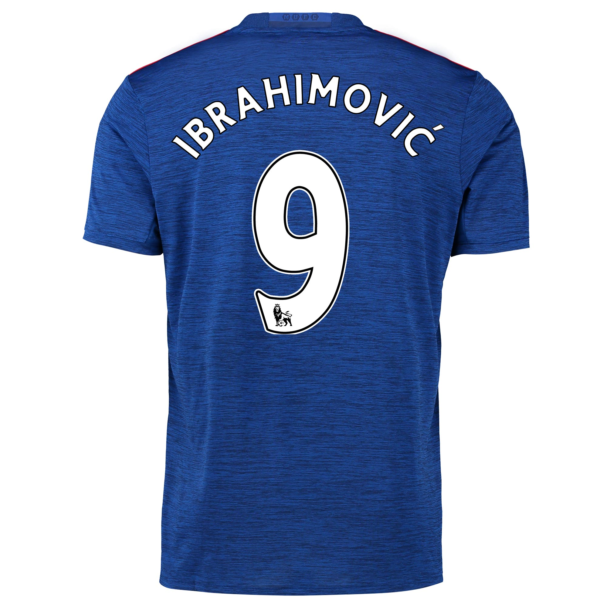 Manchester United Away Shirt 2016-17 with Ibrahimovic 9 printing, Blue
