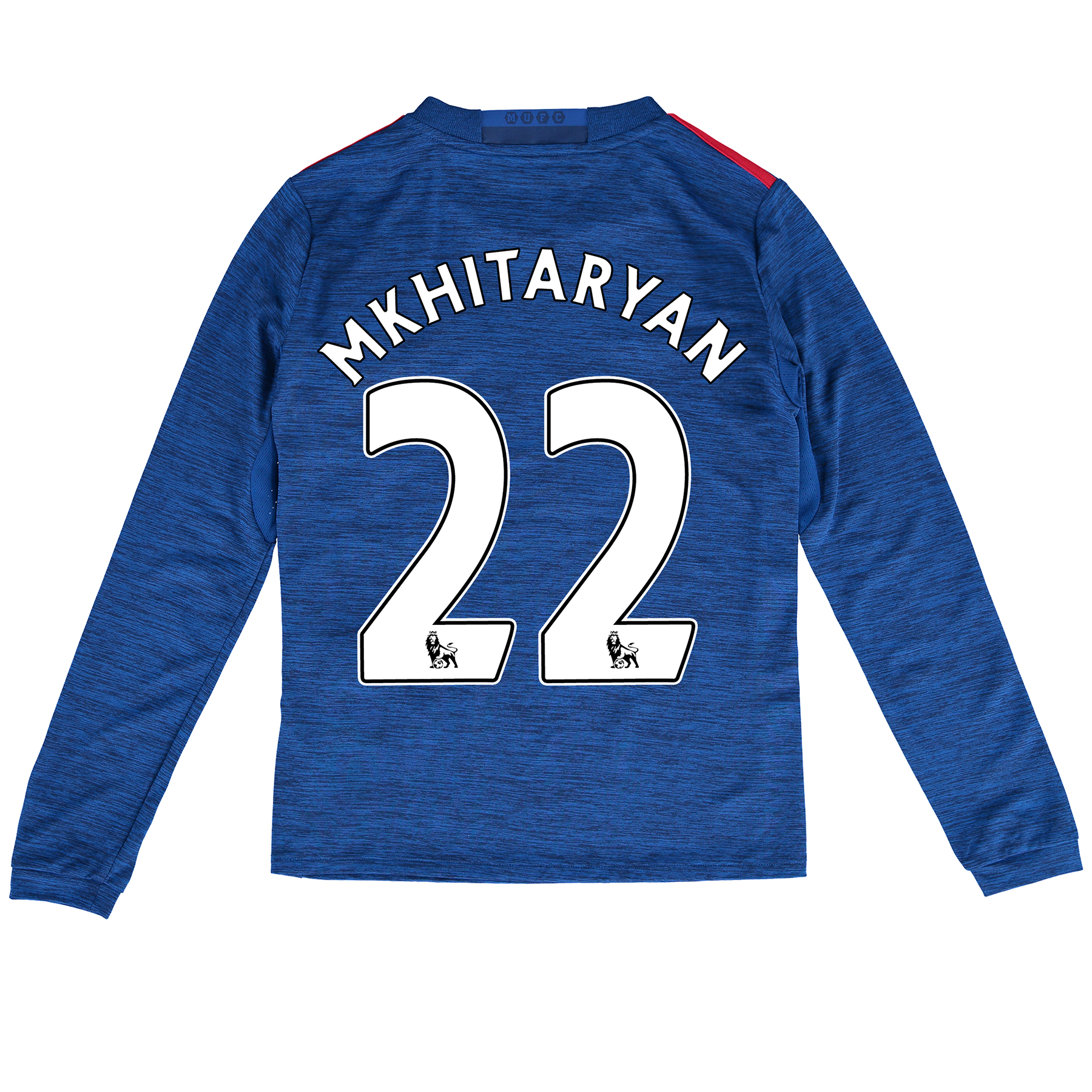 Manchester United Away Shirt 2016-17 - Kids - Long Sleeve with Mkhitar, Blue