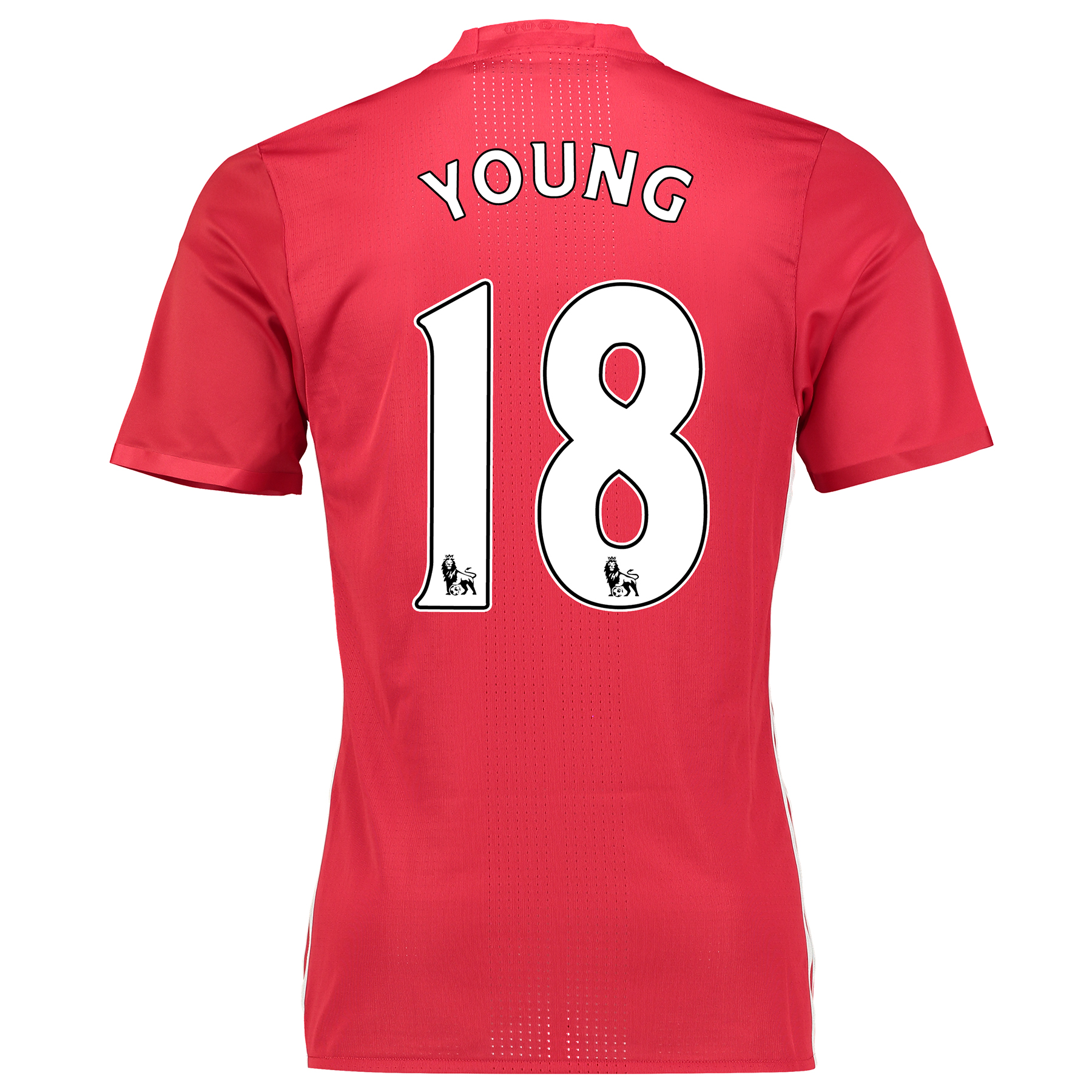 Image of Manchester United Home Adi Zero Shirt 2016-17 with Young 18 printing, Red