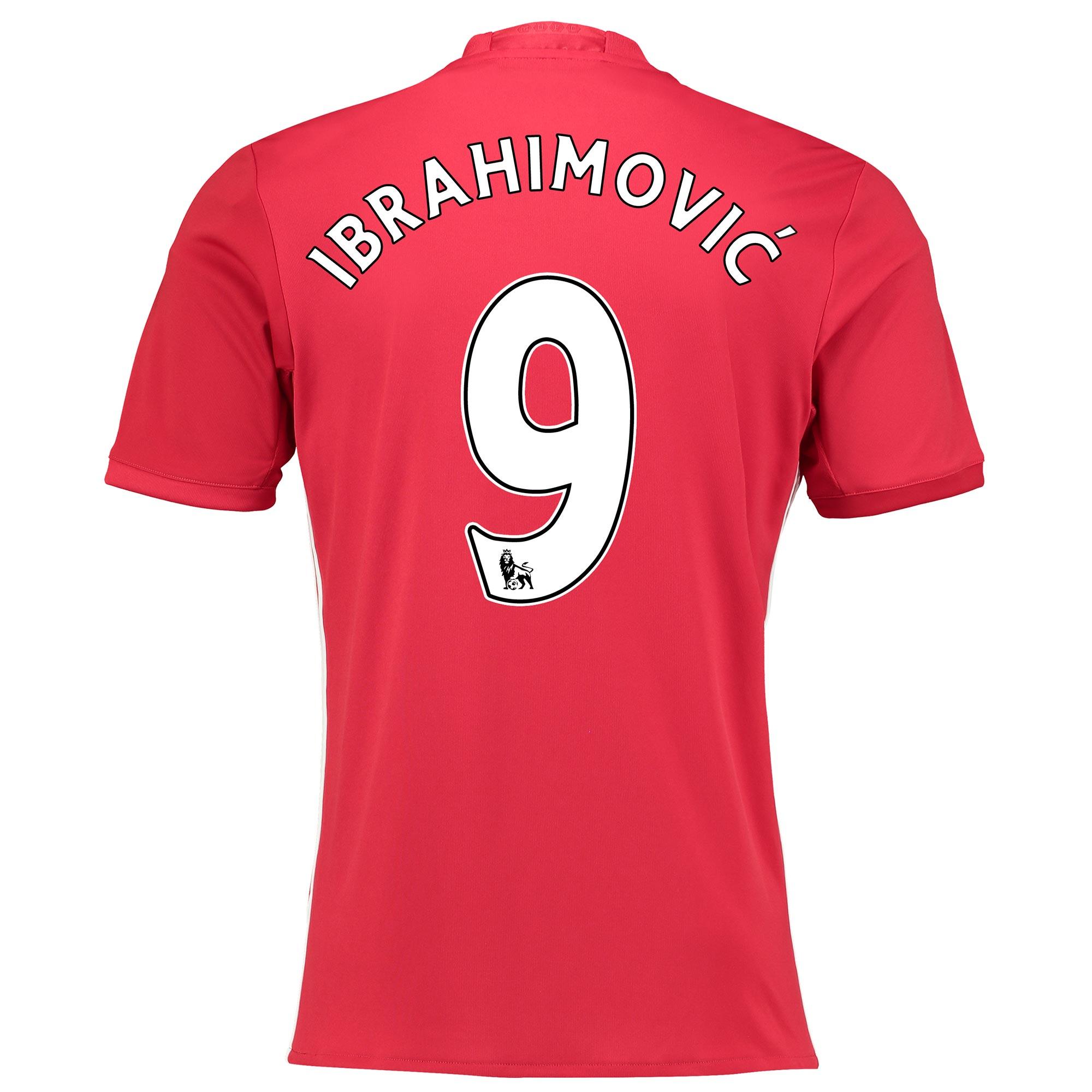 Manchester United Home Shirt 2016-17 with Ibrahimovic 9 printing