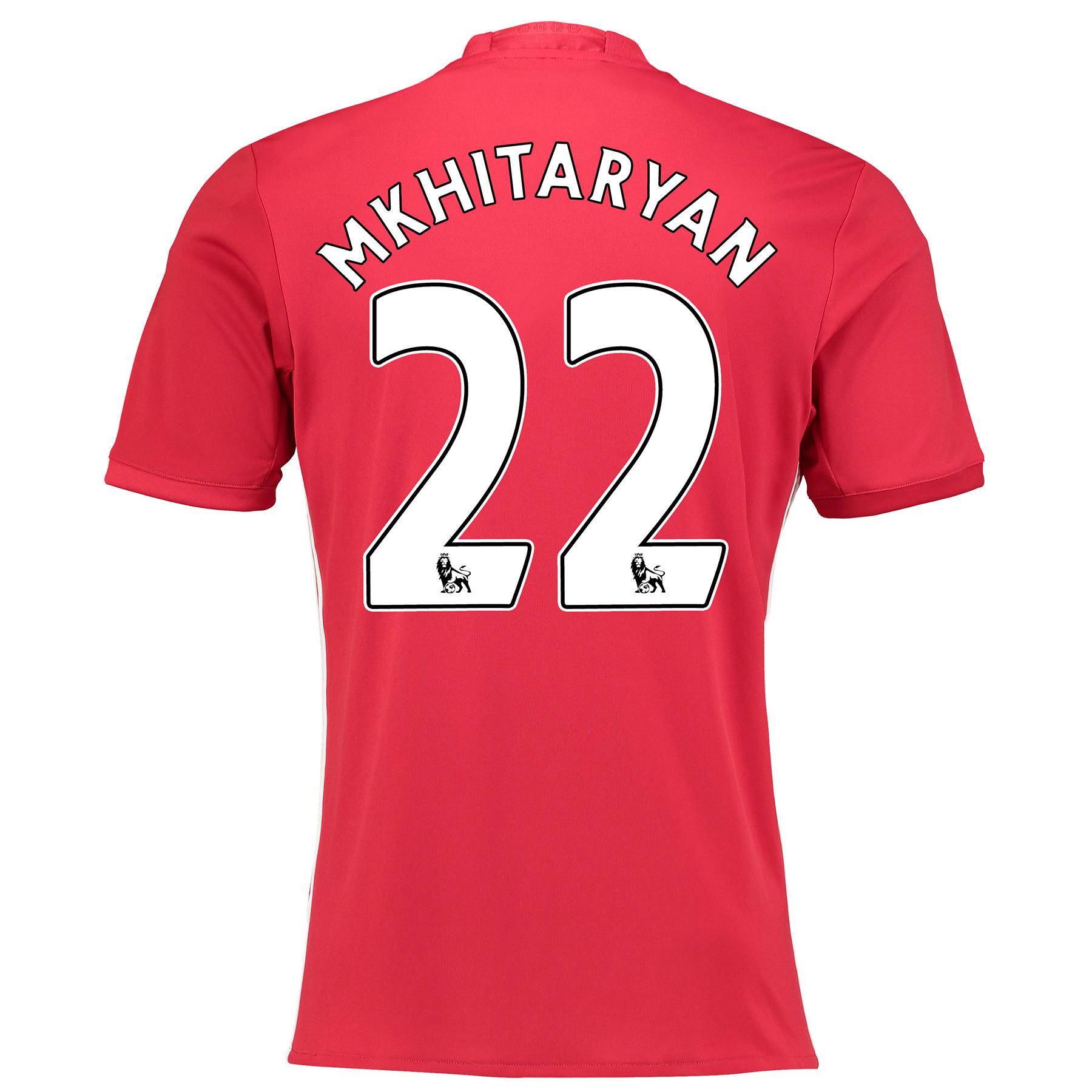 Manchester United Home Shirt 2016-17 with Mkhitaryan 22 printing