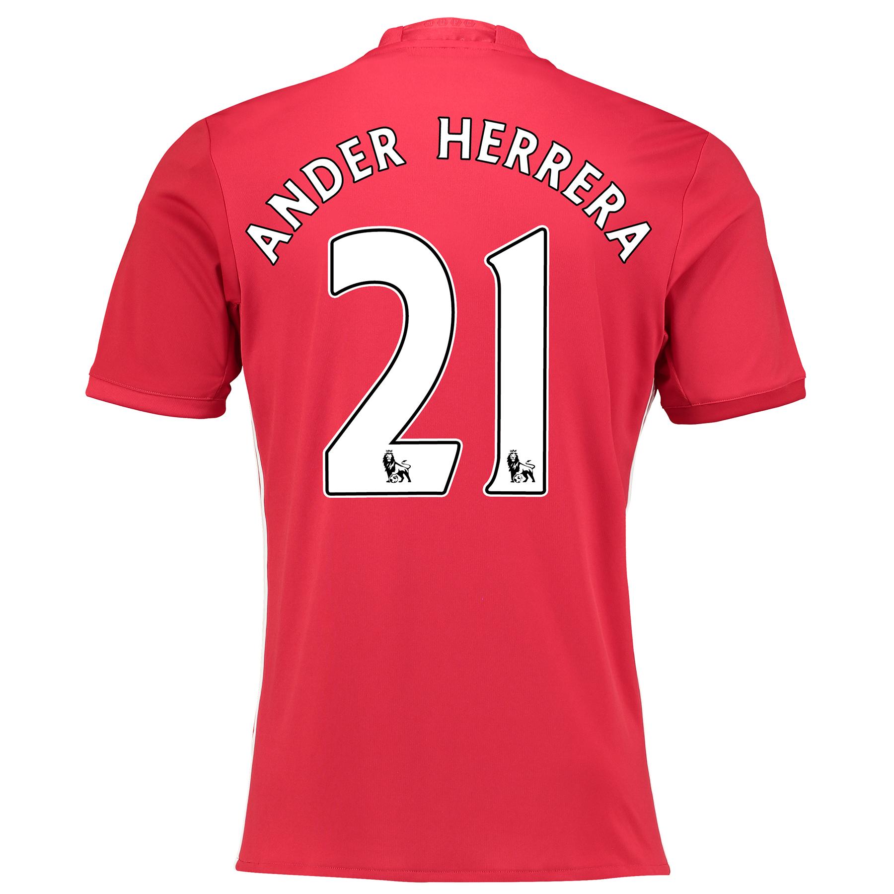 Manchester United Home Shirt 2016-17 with Herrera 21 printing