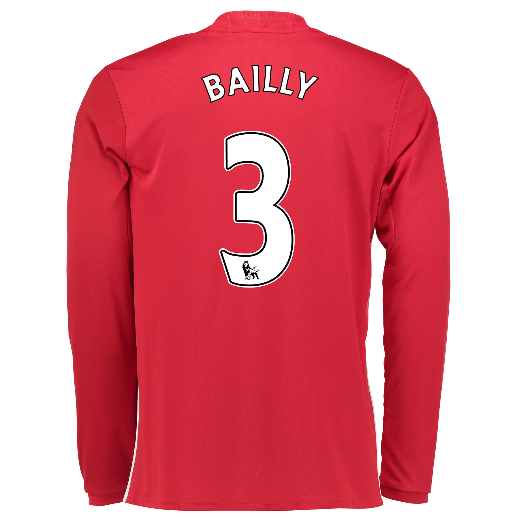 Manchester United Home Shirt 2016-17 - Long Sleeve with Bailly 3 print