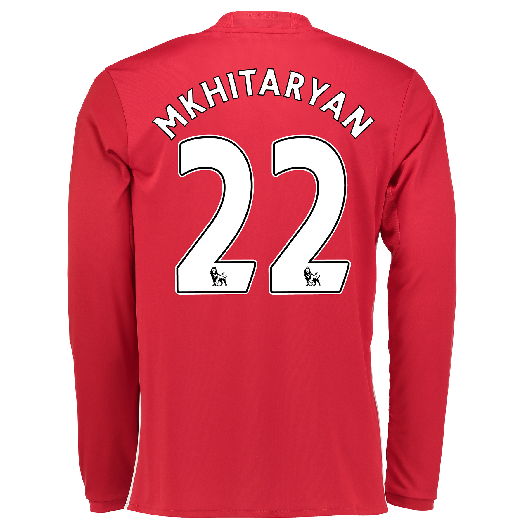 Manchester United Home Shirt 2016-17 - Long Sleeve with Mkhitaryan 22