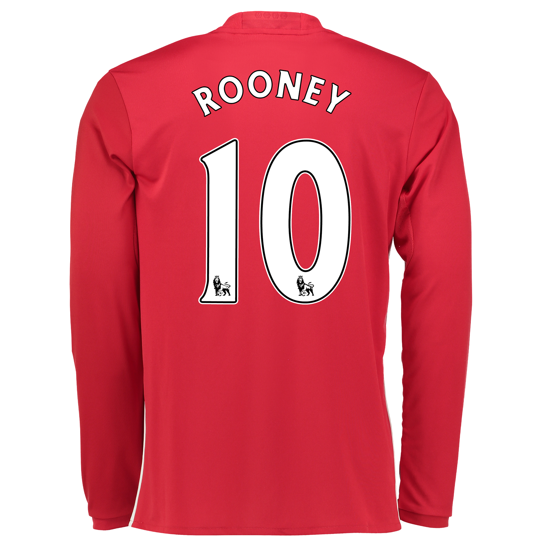 Manchester United Home Shirt 2016-17 - Long Sleeve with Rooney 10 prin