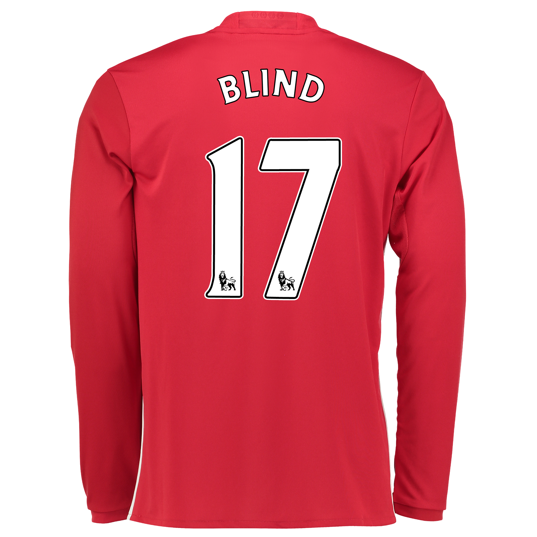Manchester United Home Shirt 2016-17 - Long Sleeve with Blind 17 print