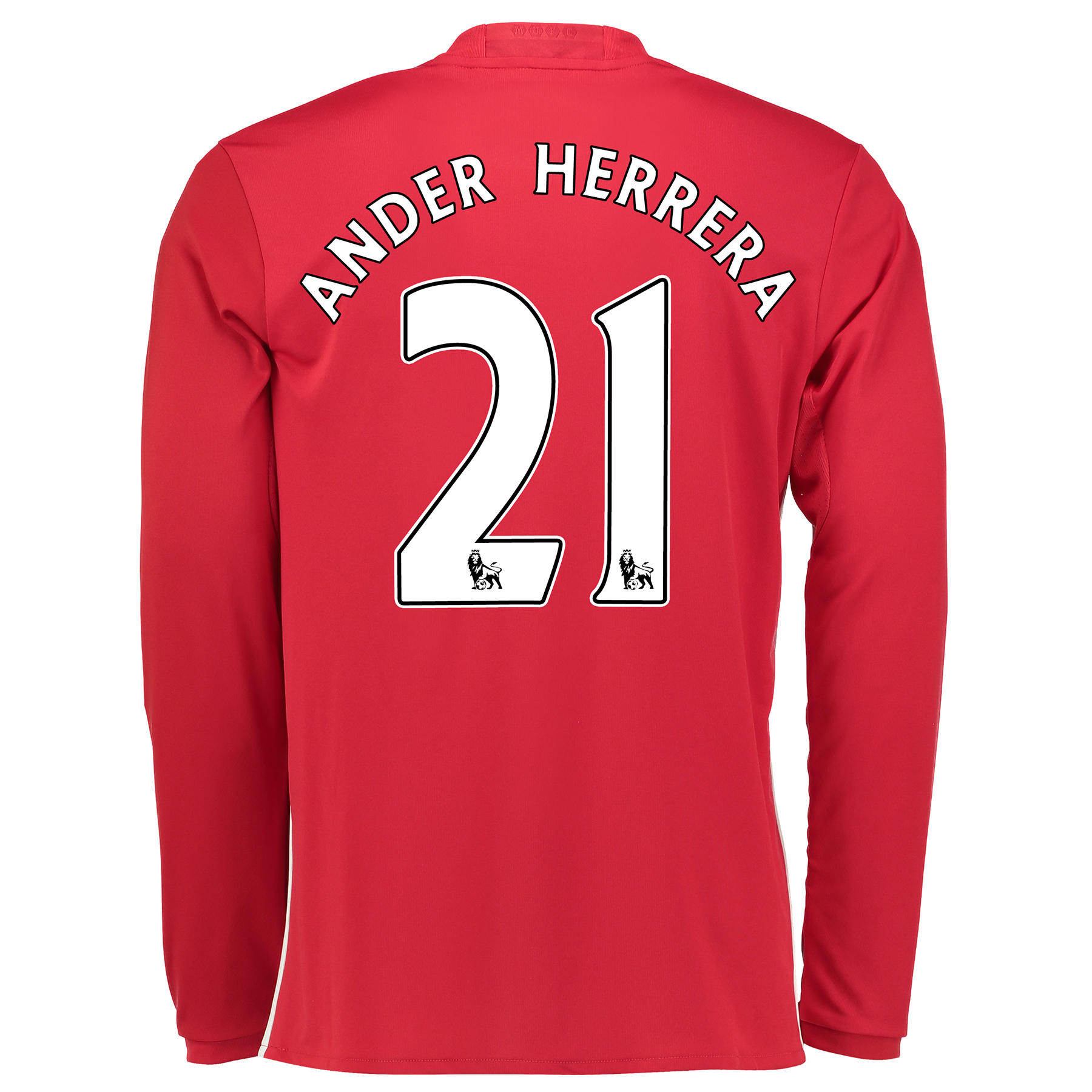 Manchester United Home Shirt 2016-17 - Long Sleeve with Herrera 21 pri