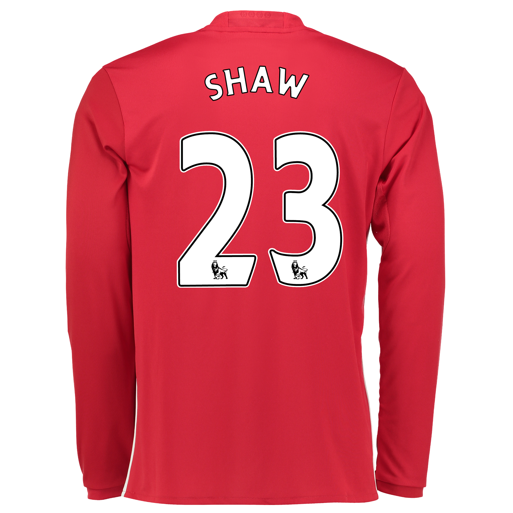 Manchester United Home Shirt 2016-17 - Long Sleeve with Shaw 23 printi