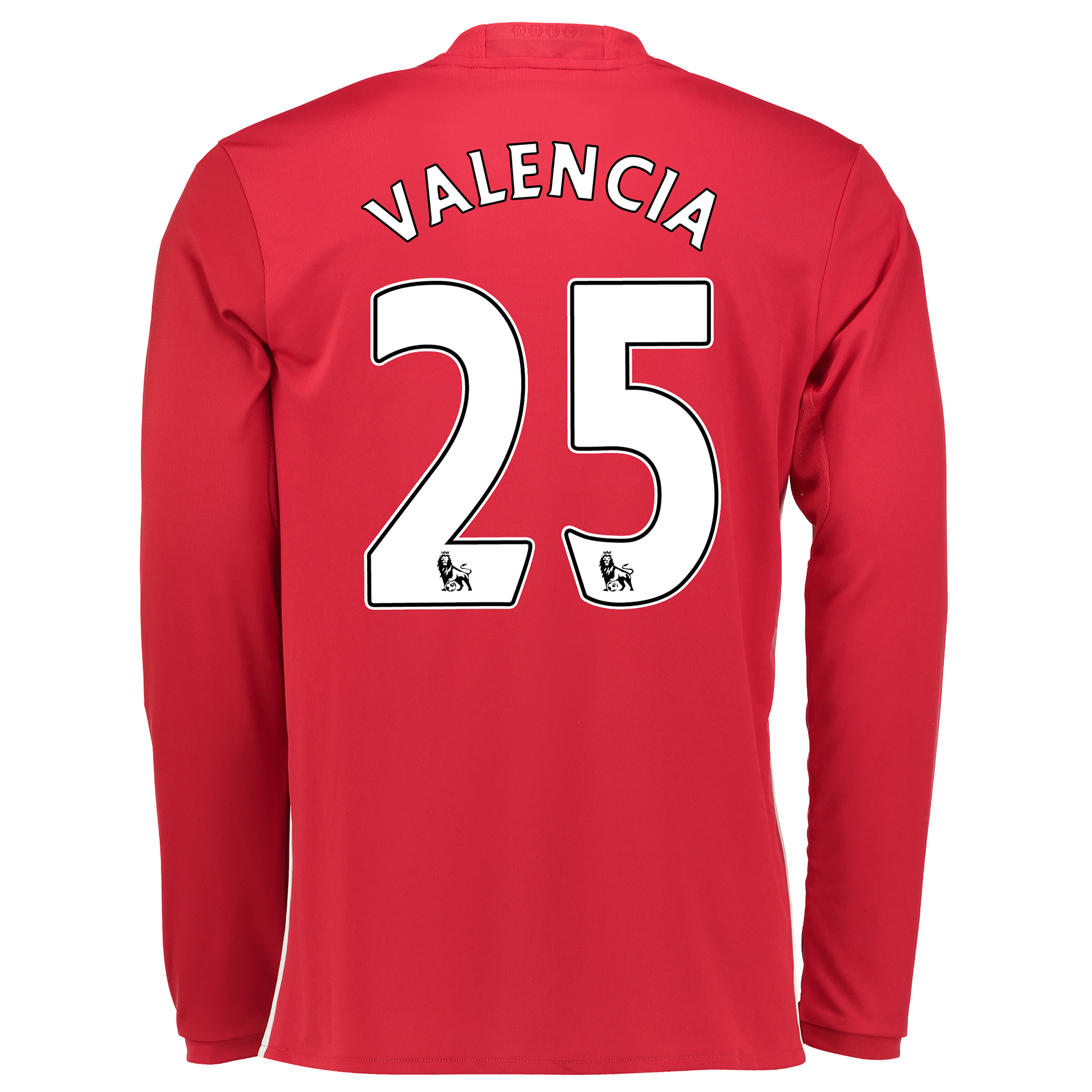 Manchester United Home Shirt 2016-17 - Long Sleeve with Valencia 25 pr