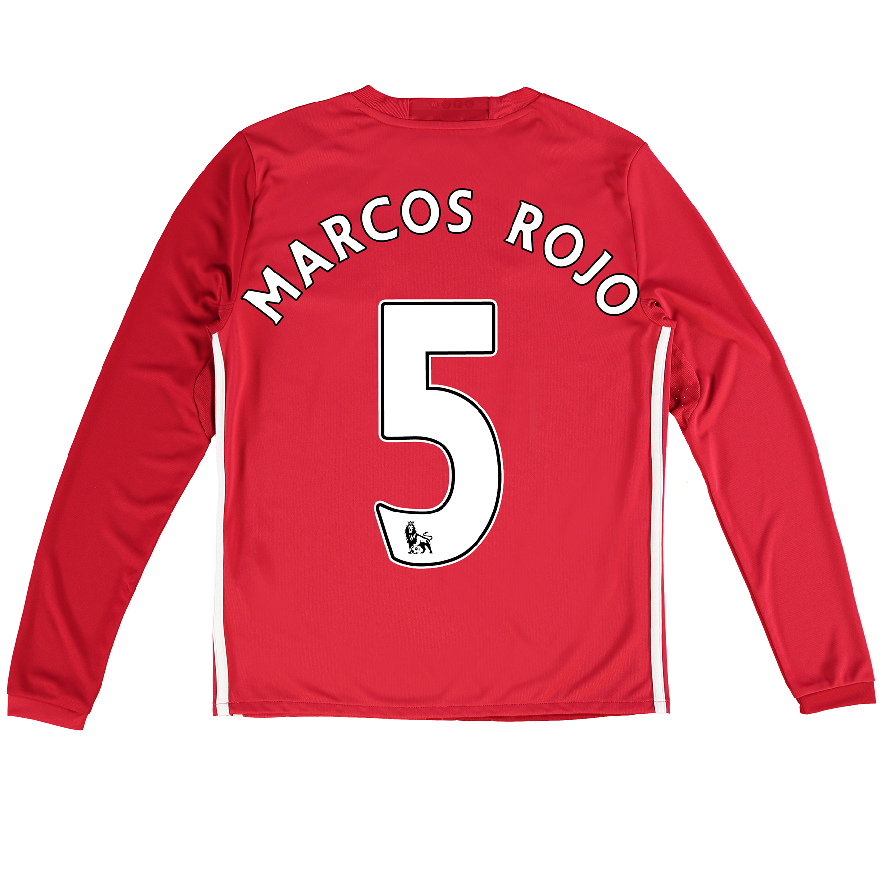 Manchester United Home Shirt 2016-17 - Kids - Long Sleeve with Marcos