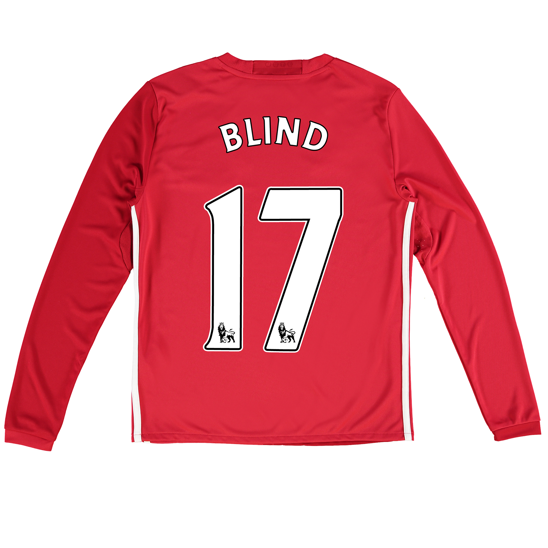 Manchester United Home Shirt 2016-17 - Kids - Long Sleeve with Blind 1