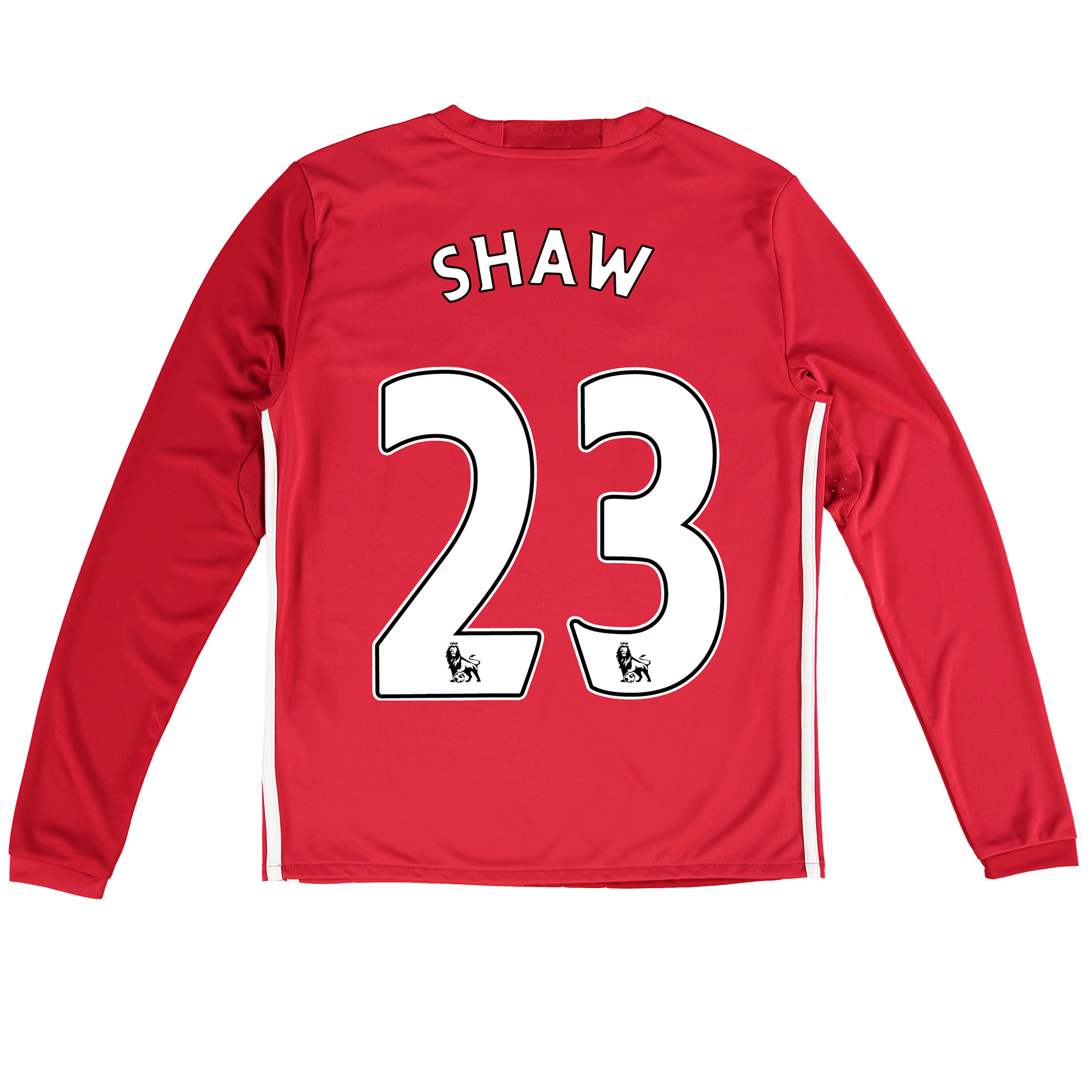Manchester United Home Shirt 2016-17 - Kids - Long Sleeve with Shaw 23