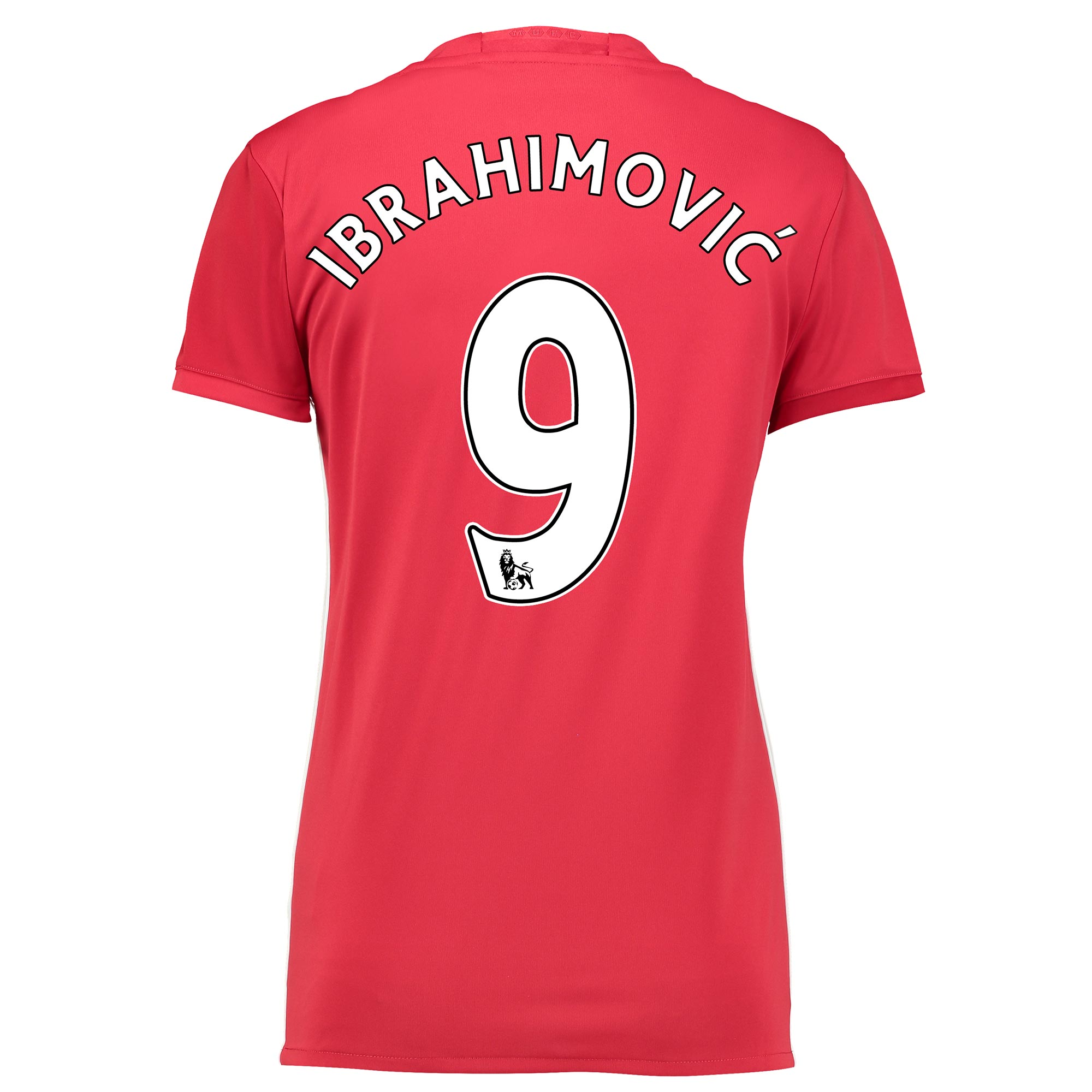 Manchester United Home Shirt 2016-17 - Womens with Ibrahimovic 9 print