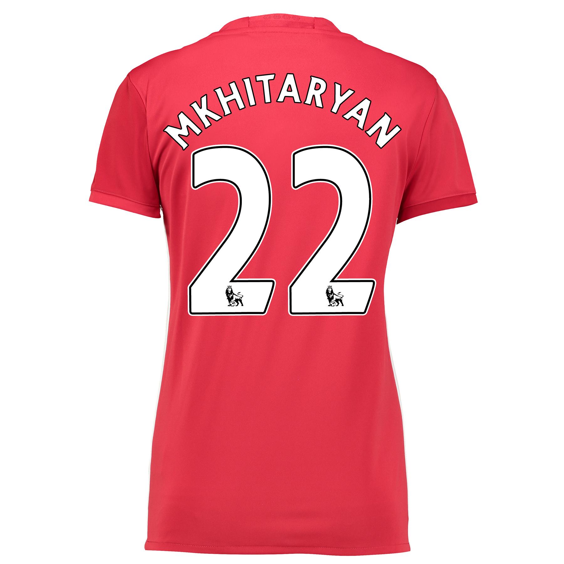 Manchester United Home Shirt 2016-17 - Womens with Mkhitaryan 22 print