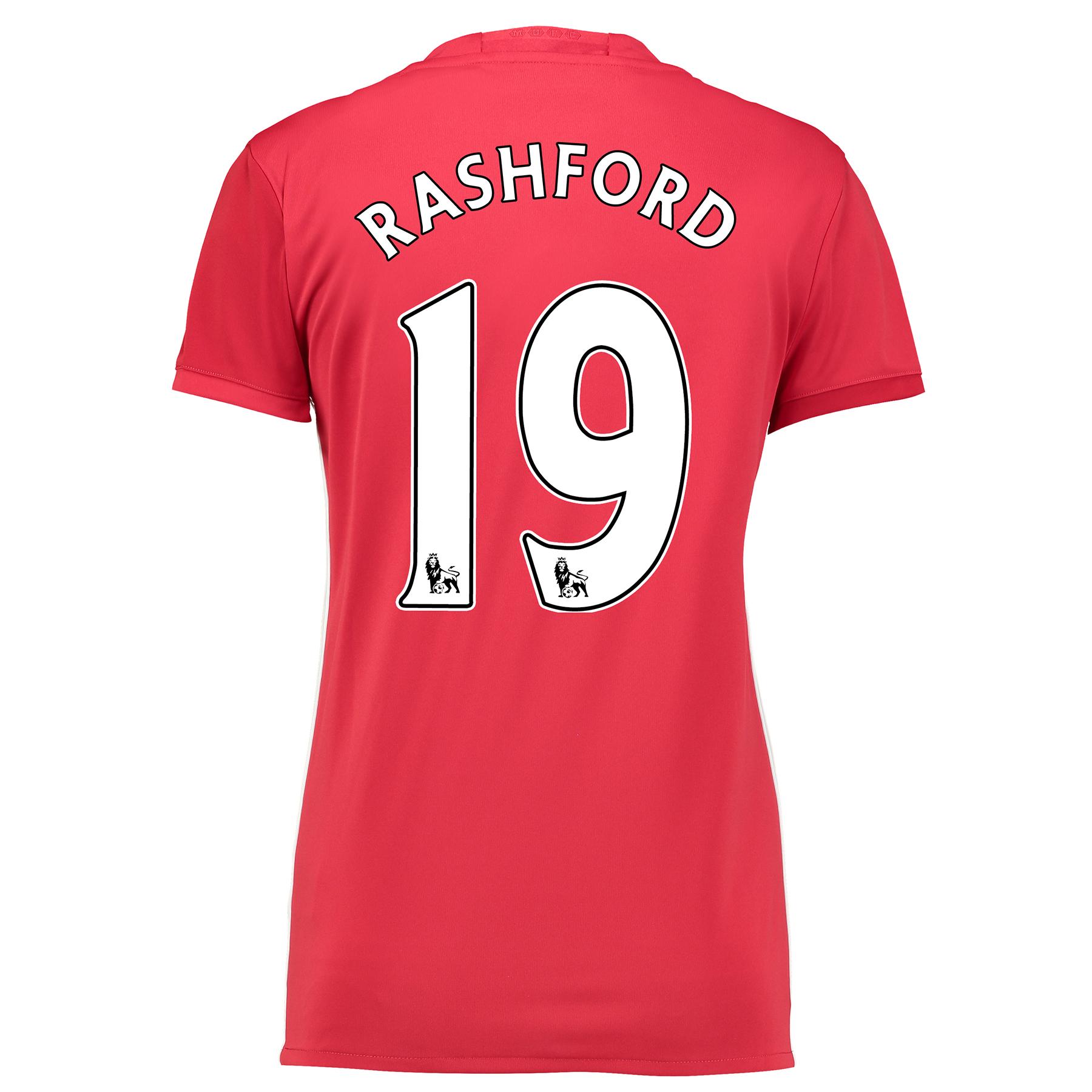 Manchester United Home Shirt 2016-17 - Womens with Rashford 19 printin