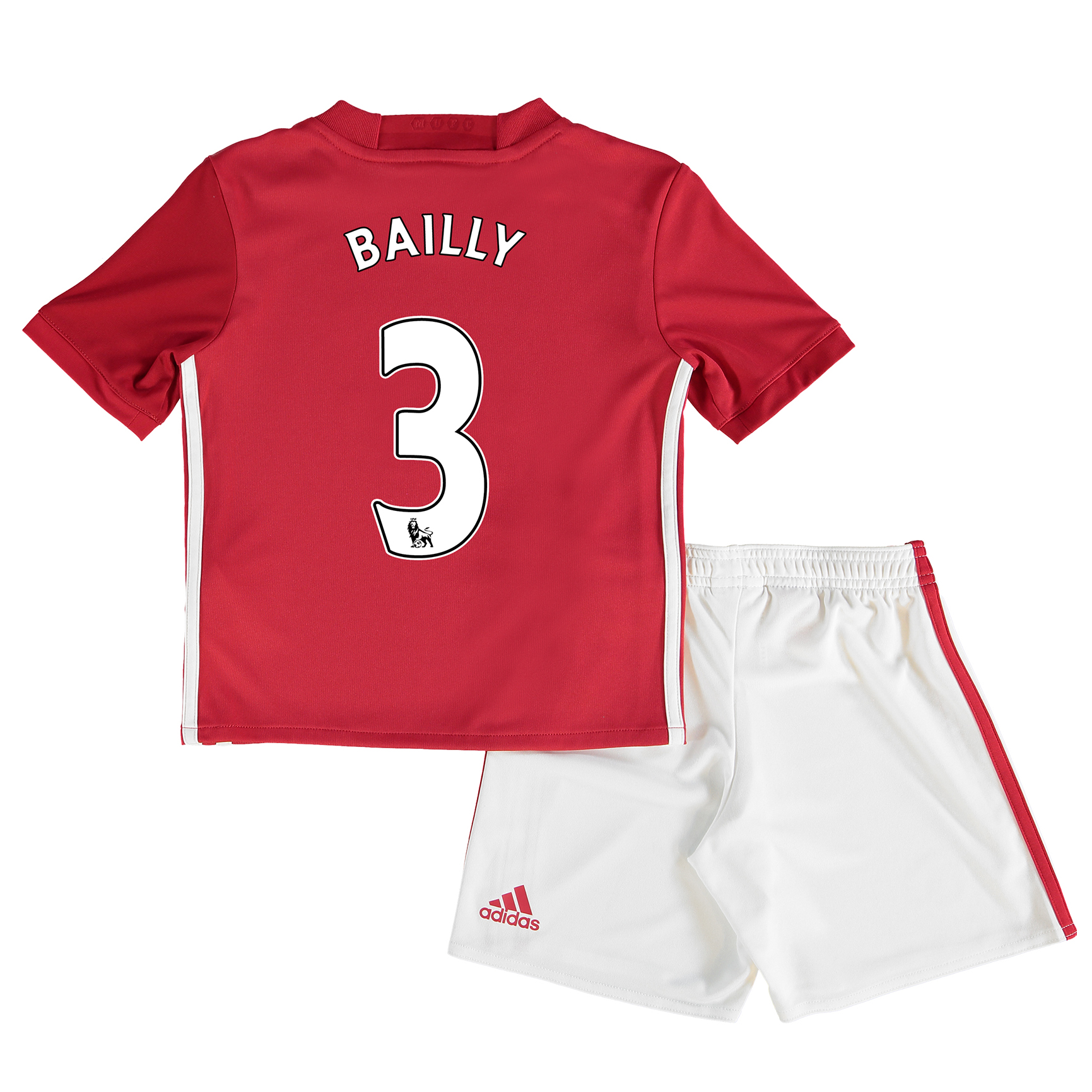 Manchester United Home Mini Kit 2016-17 with Bailly 3 printing