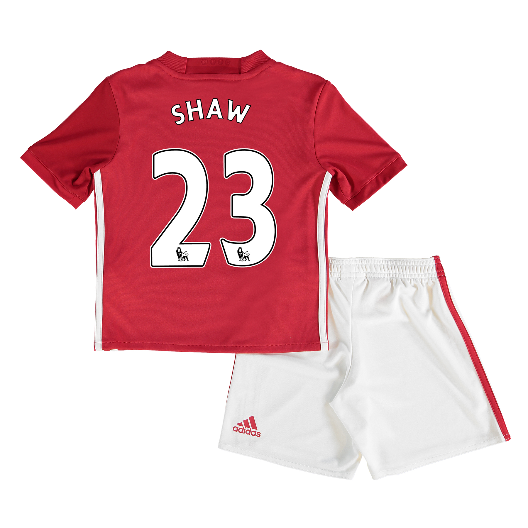 Manchester United Home Mini Kit 2016-17 with Shaw 23 printing