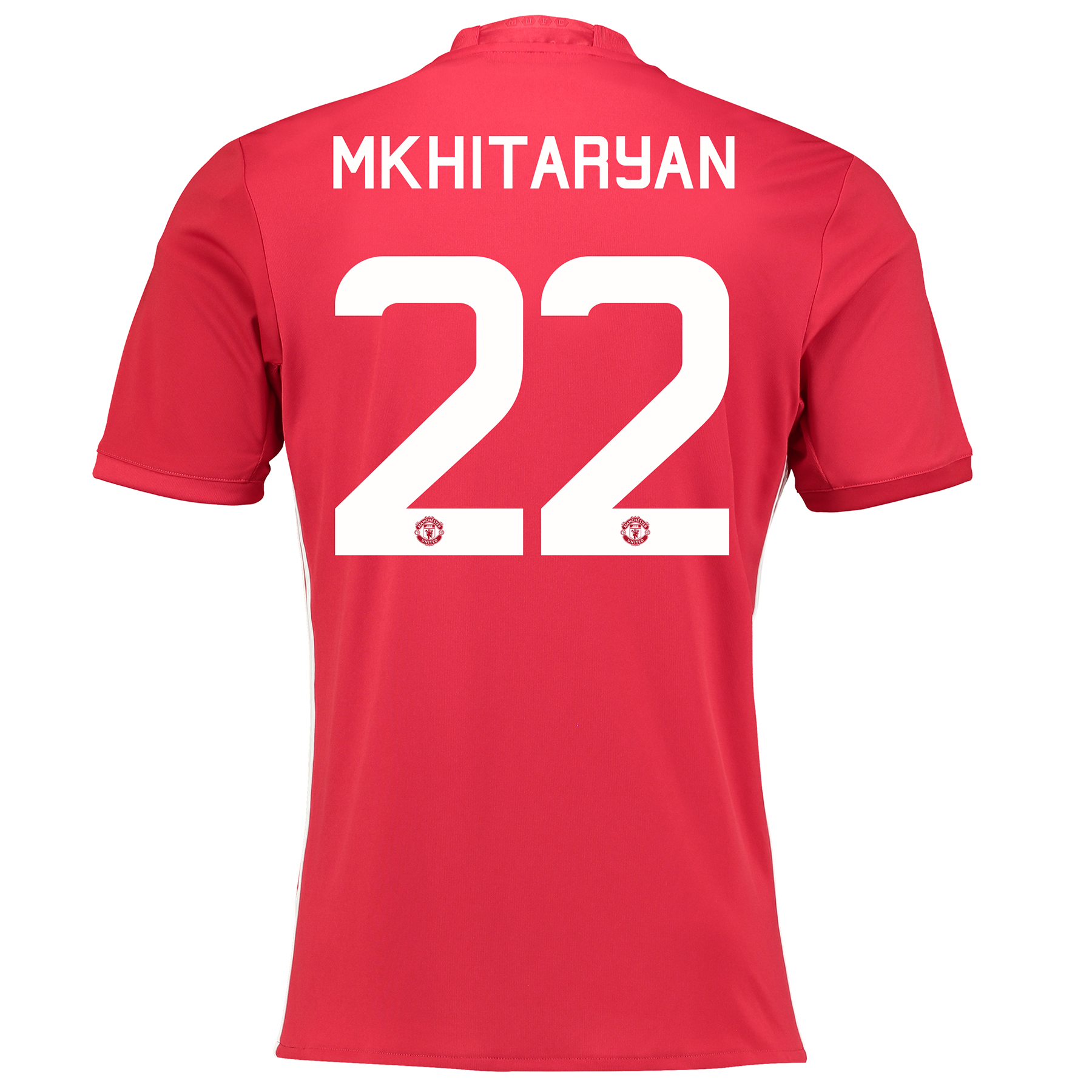Manchester United Cup Home Shirt 2016-17 with Mkhitaryan 22 printing