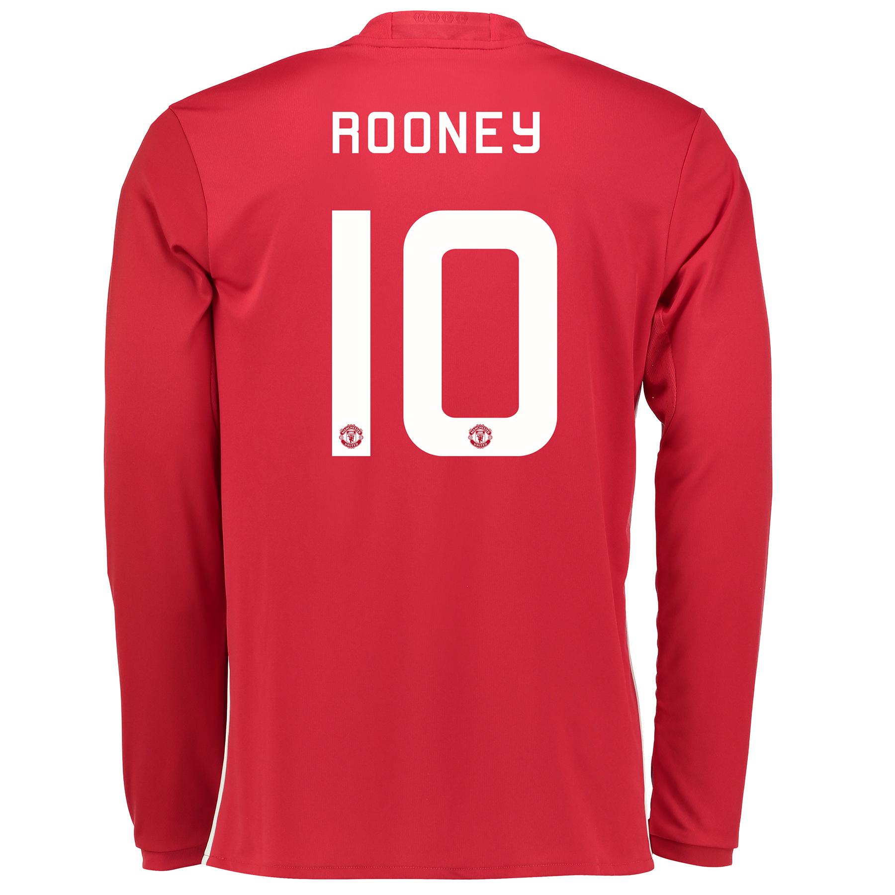 Manchester United Cup Home Shirt 2016-17 - Long Sleeve with Rooney 10