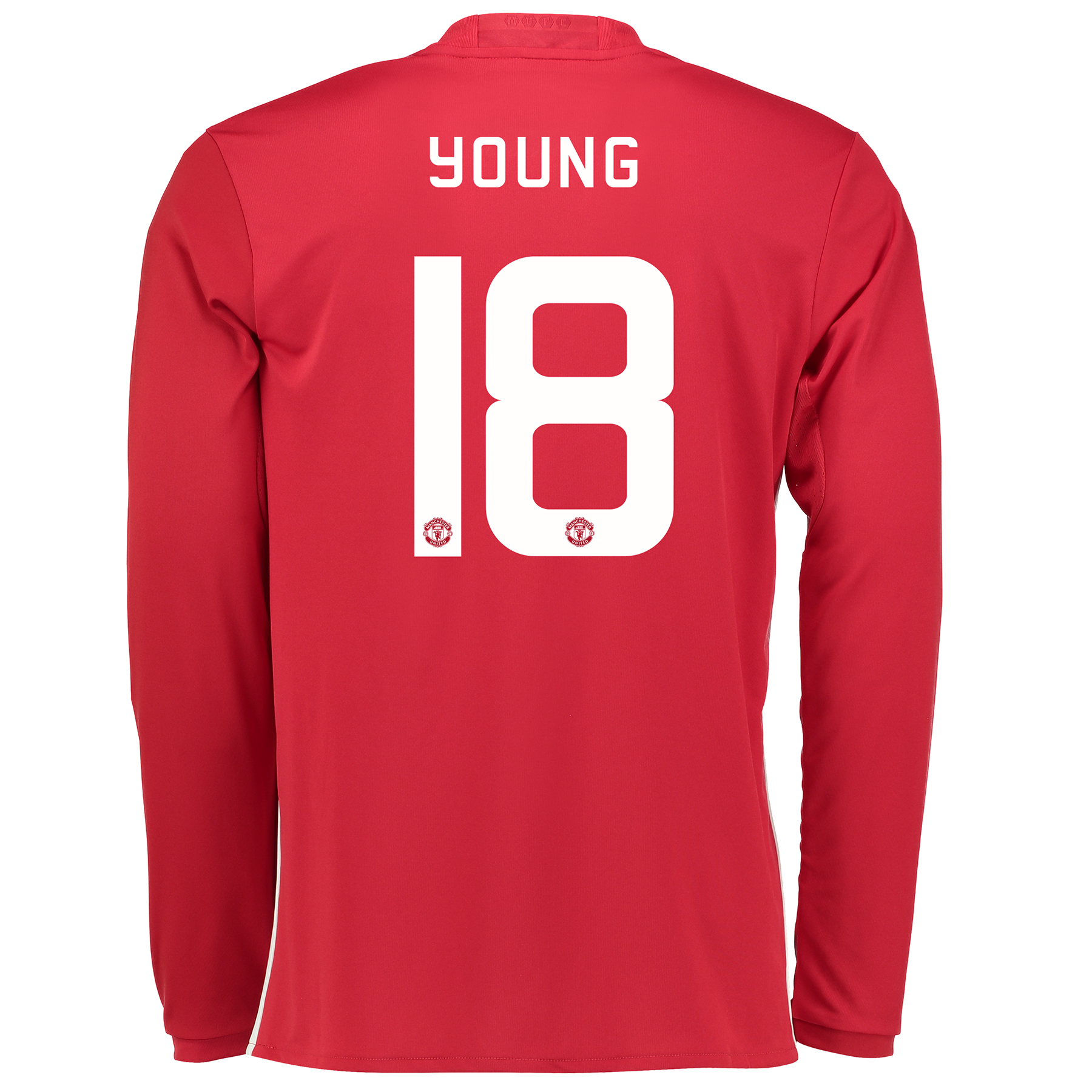Manchester United Cup Home Shirt 2016-17 - Long Sleeve with Young 18 p