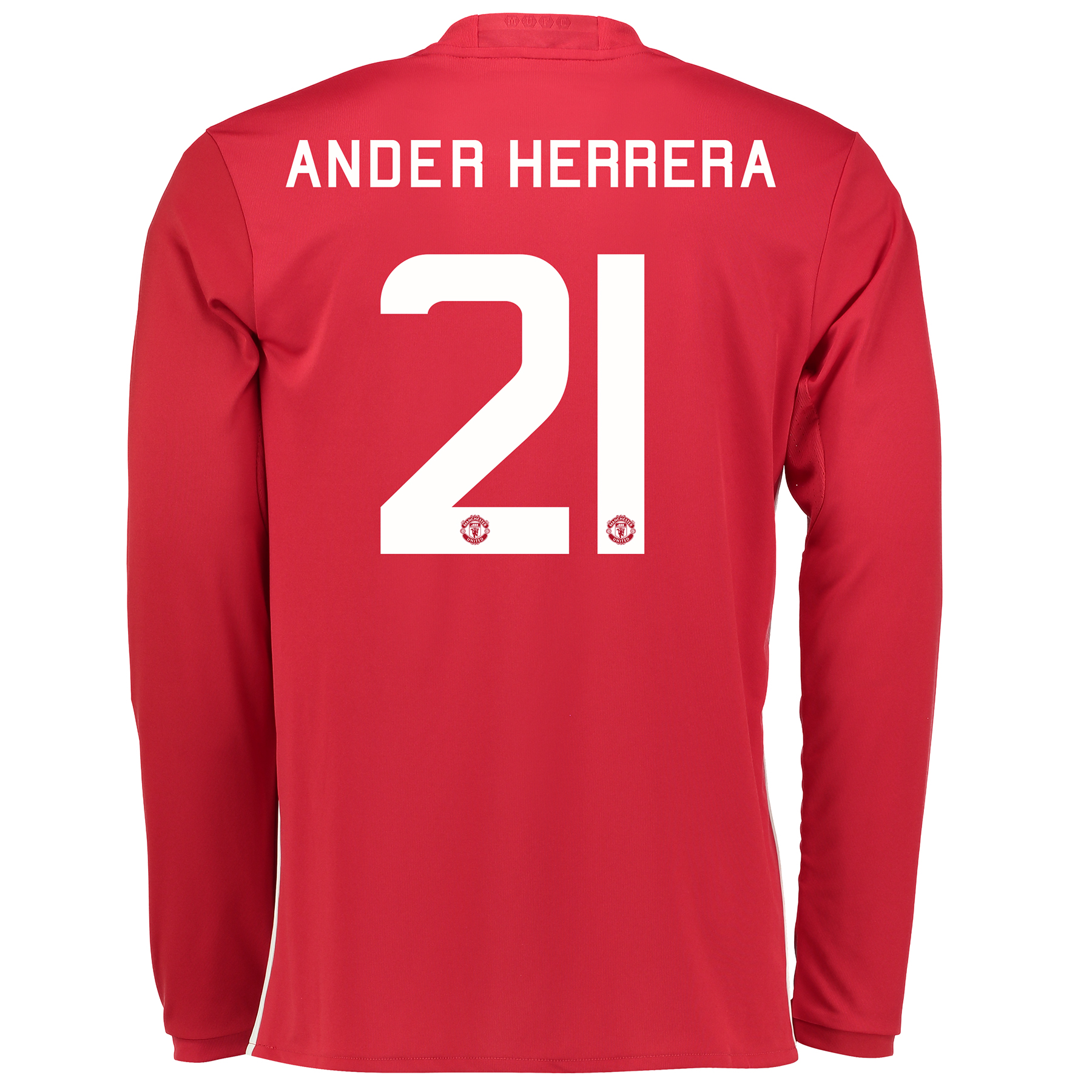 Manchester United Cup Home Shirt 2016-17 - Long Sleeve with Herrera 21
