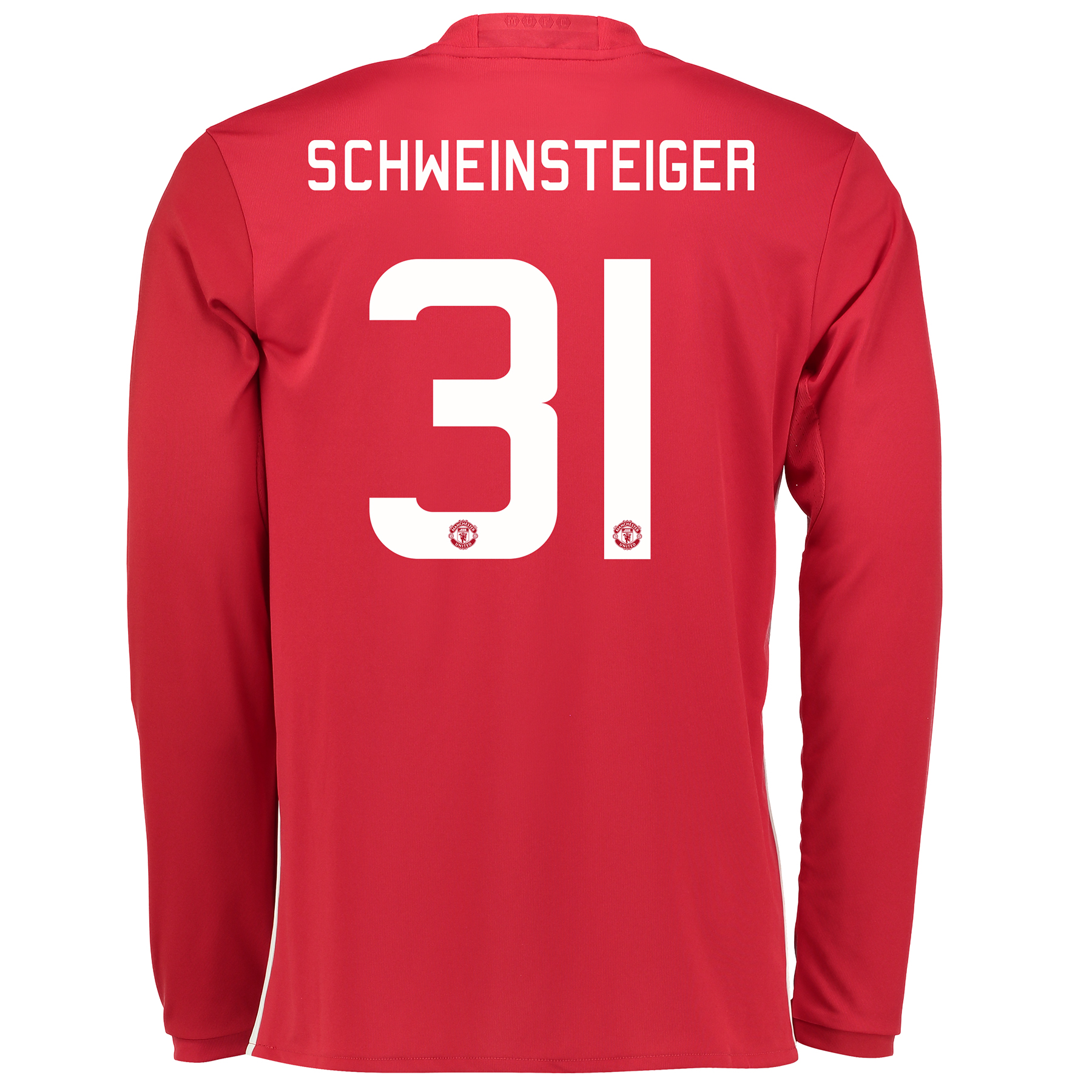 Manchester United Cup Home Shirt 2016-17 - Long Sleeve with Schweinste
