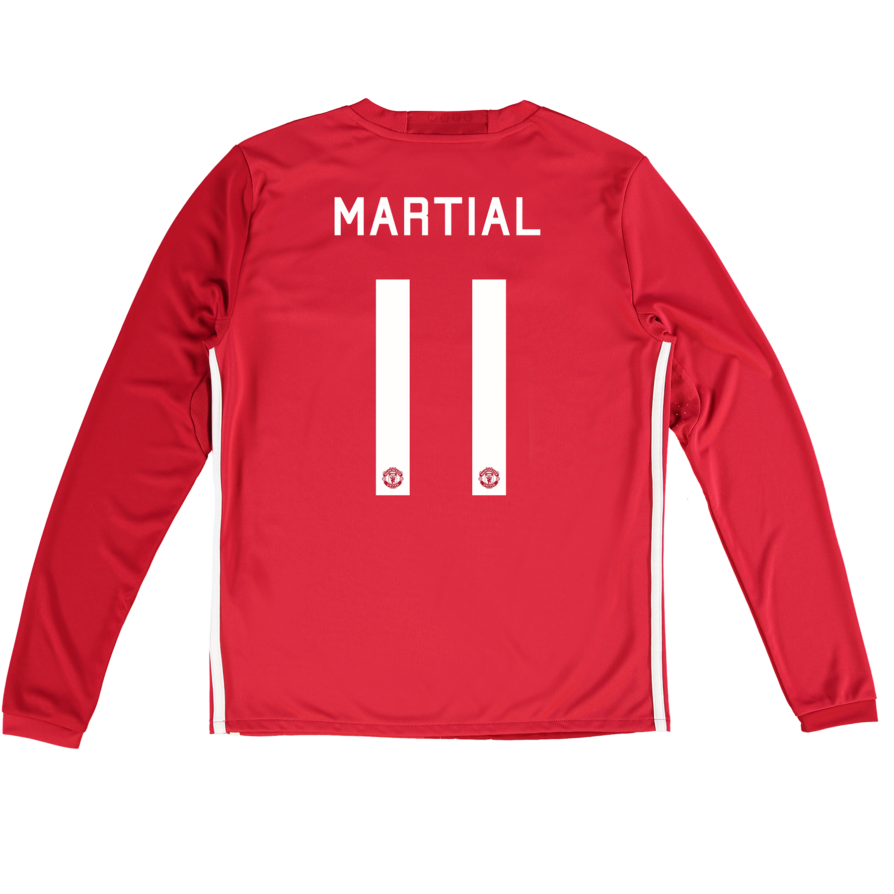 Manchester United Cup Home Shirt 2016-17 - Kids - Long Sleeve with Mar