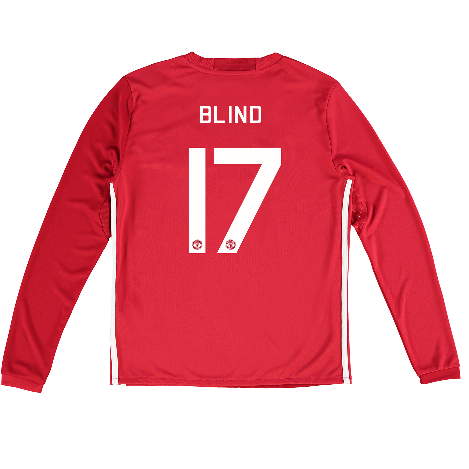 Manchester United Cup Home Shirt 2016-17 - Kids - Long Sleeve with Bli