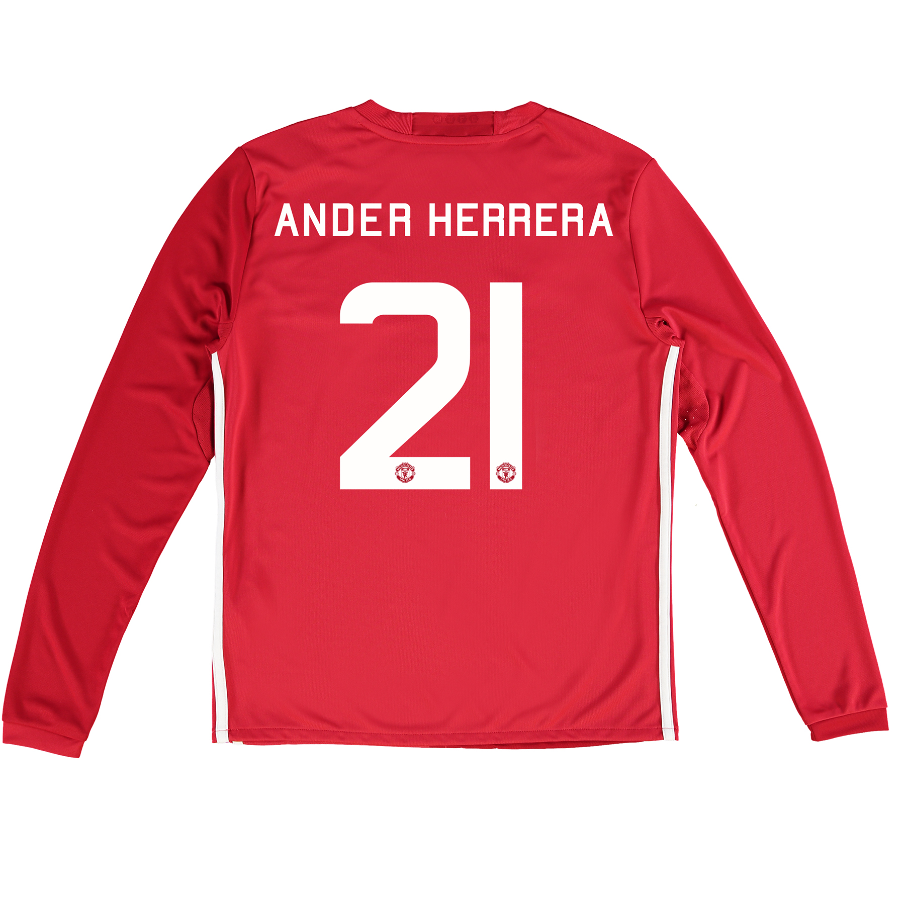 Manchester United Cup Home Shirt 2016-17 - Kids - Long Sleeve with Her