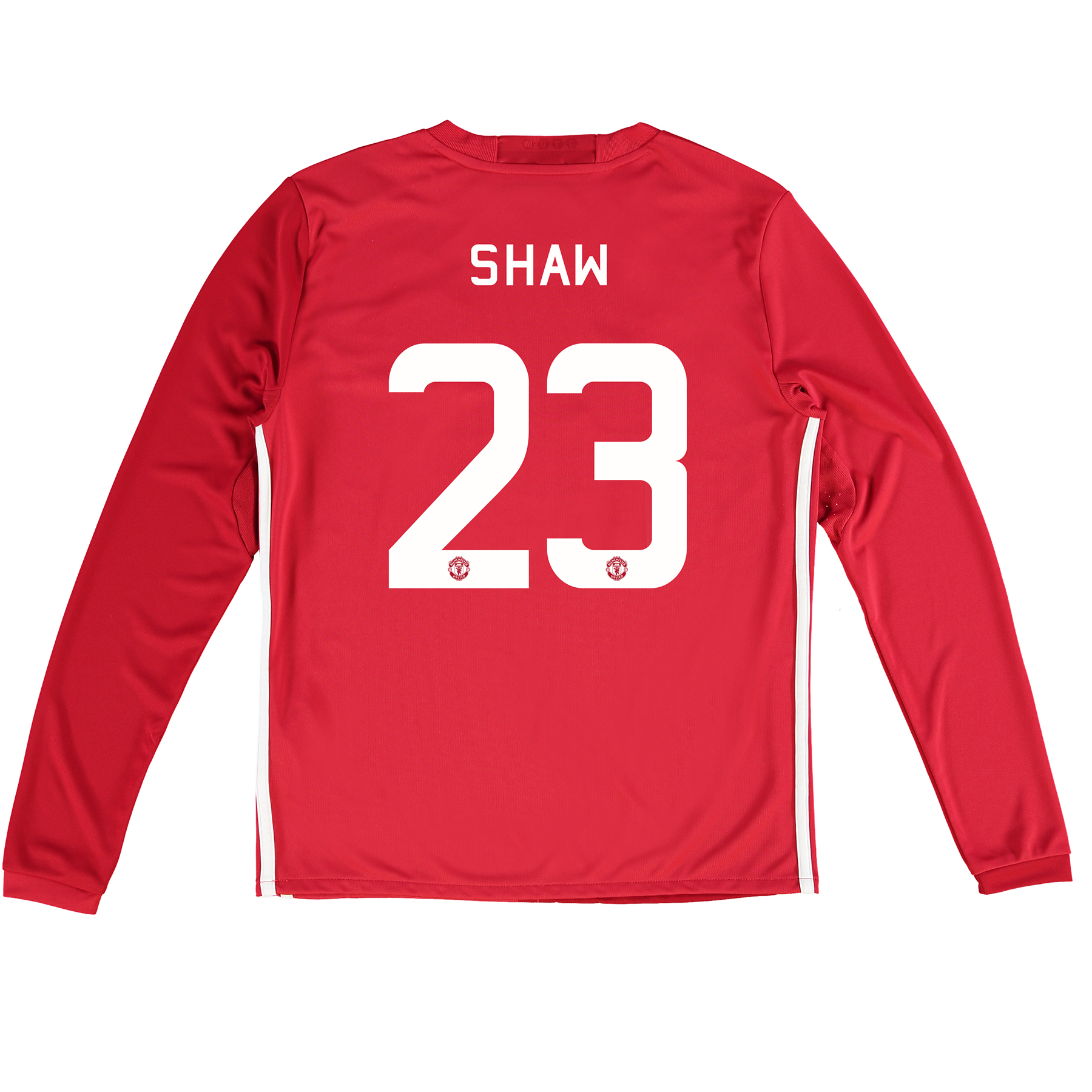 Manchester United Cup Home Shirt 2016-17 - Kids - Long Sleeve with Sha
