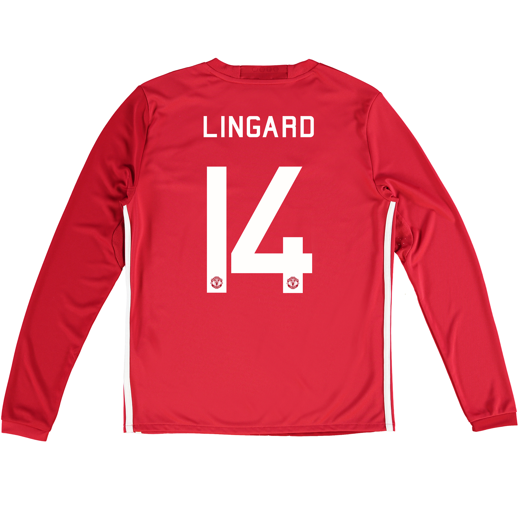Manchester United Cup Home Shirt 2016-17 - Kids - Long Sleeve with Lin